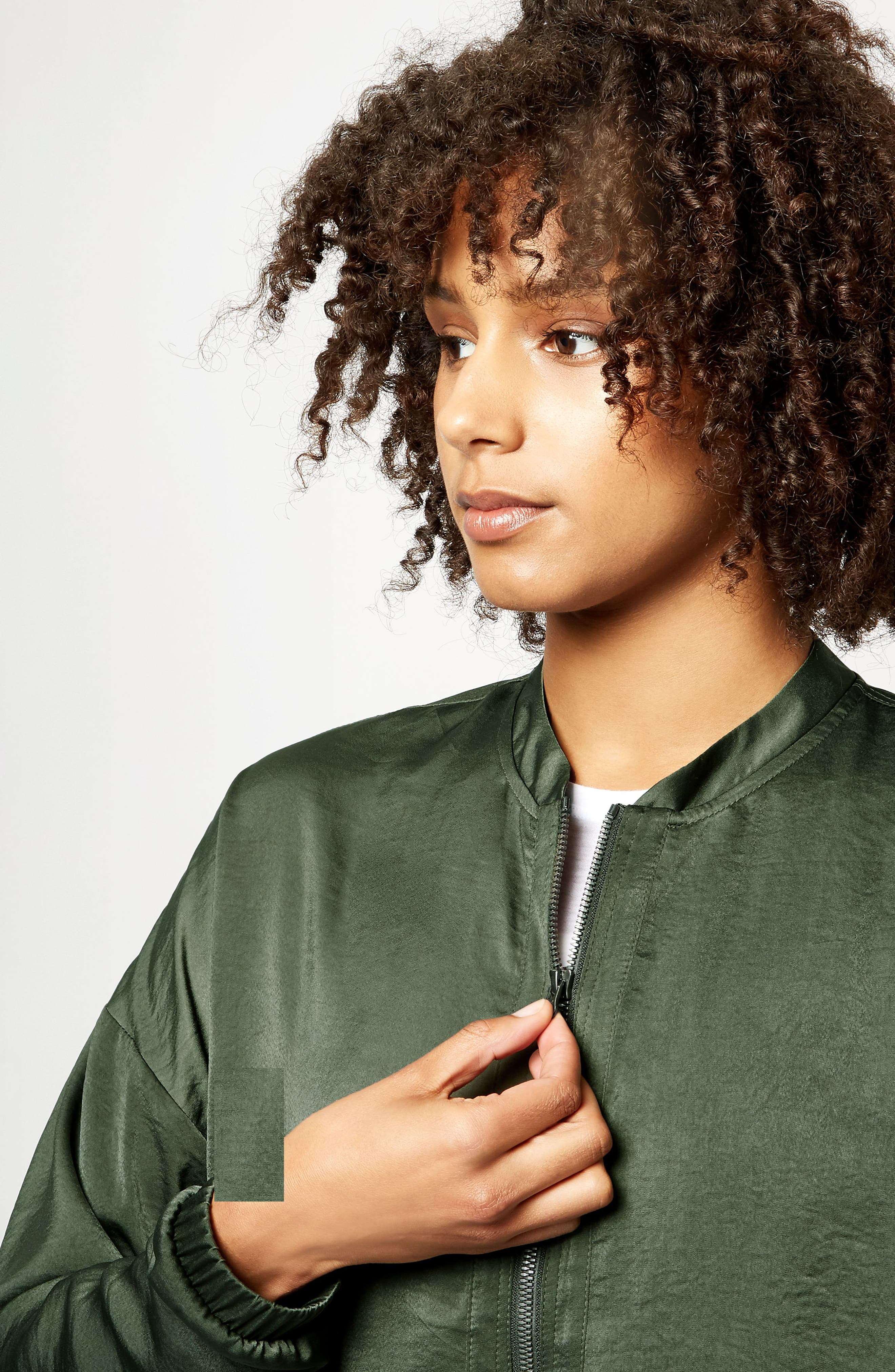 Cargo Luxe Jacket,                             Alternate thumbnail 6, color,                             OLIVE
