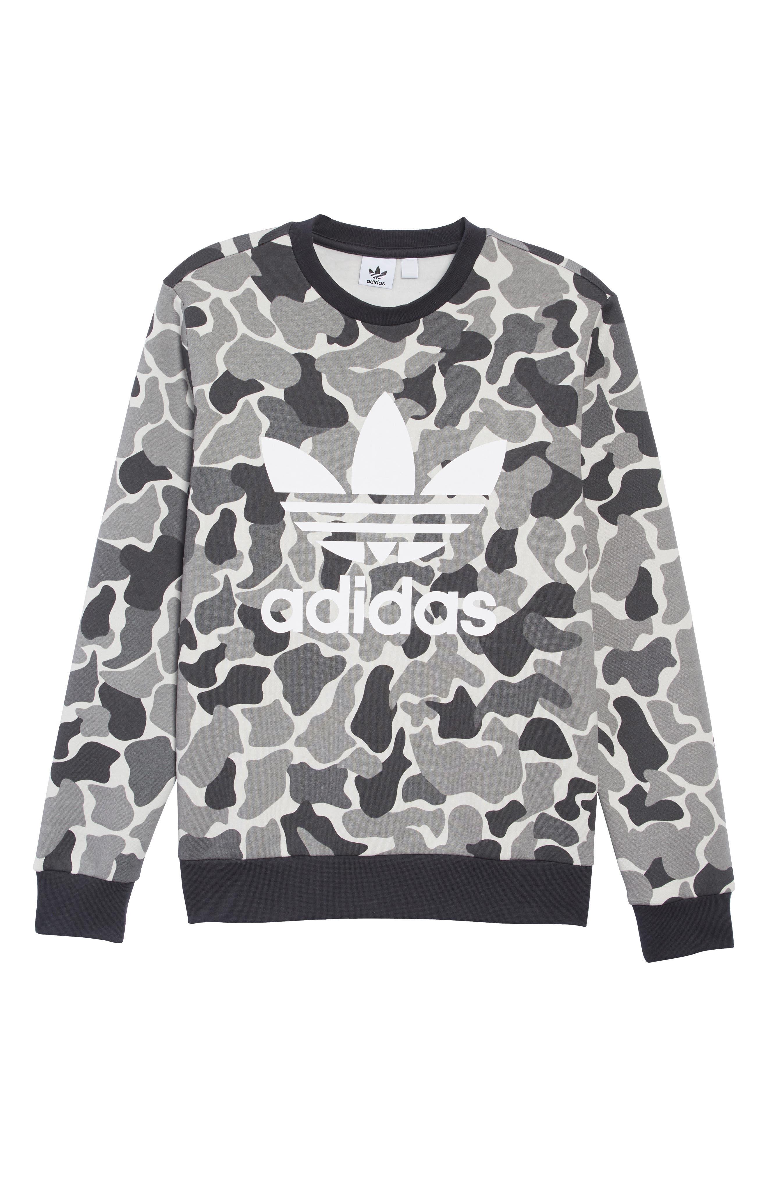 Boys Adidas Originals Trefoil Crewneck Sweatshirt