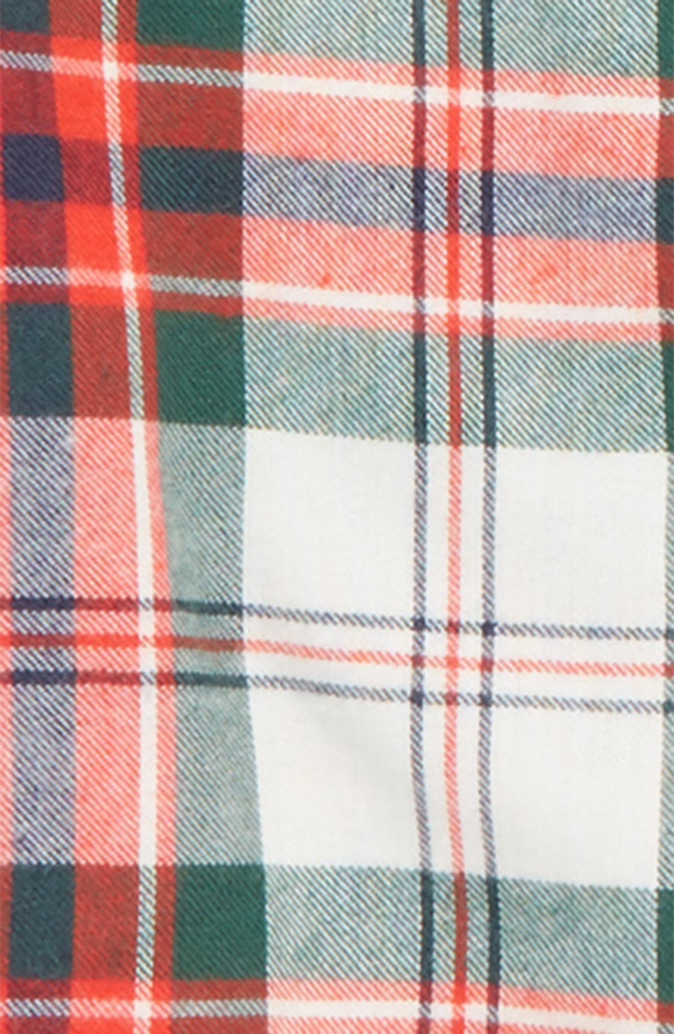 Two-Piece Flannel Pajamas,                             Alternate thumbnail 2, color,                             IVORY EGRET MACLEAN TARTAN