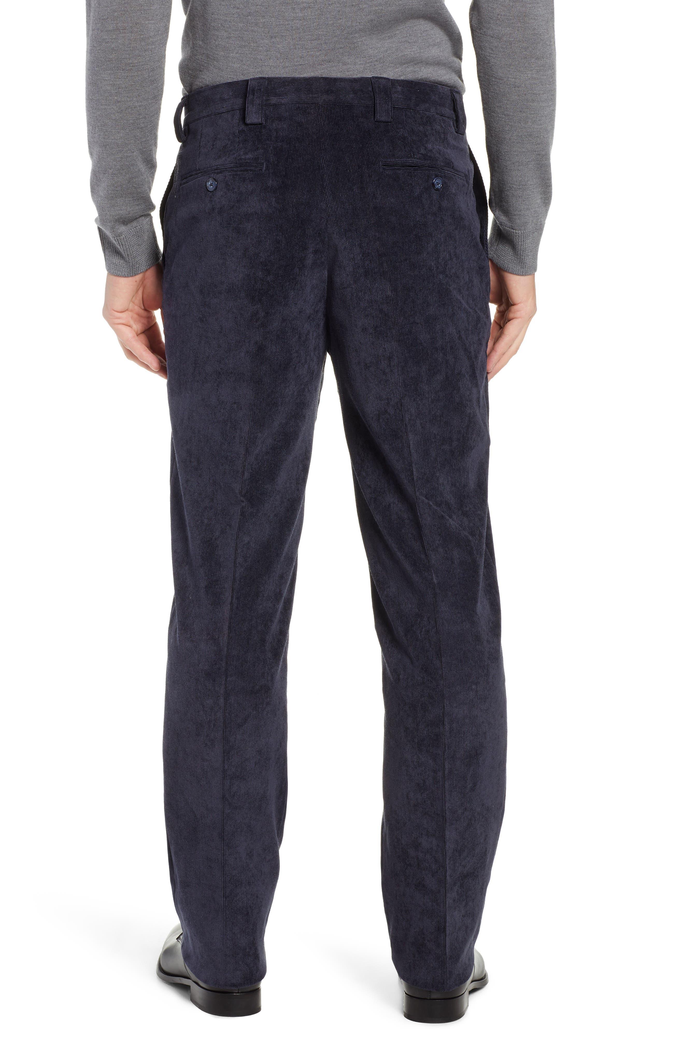 BERLE,                             Classic Fit Flat Front Corduroy Trousers,                             Alternate thumbnail 2, color,                             410
