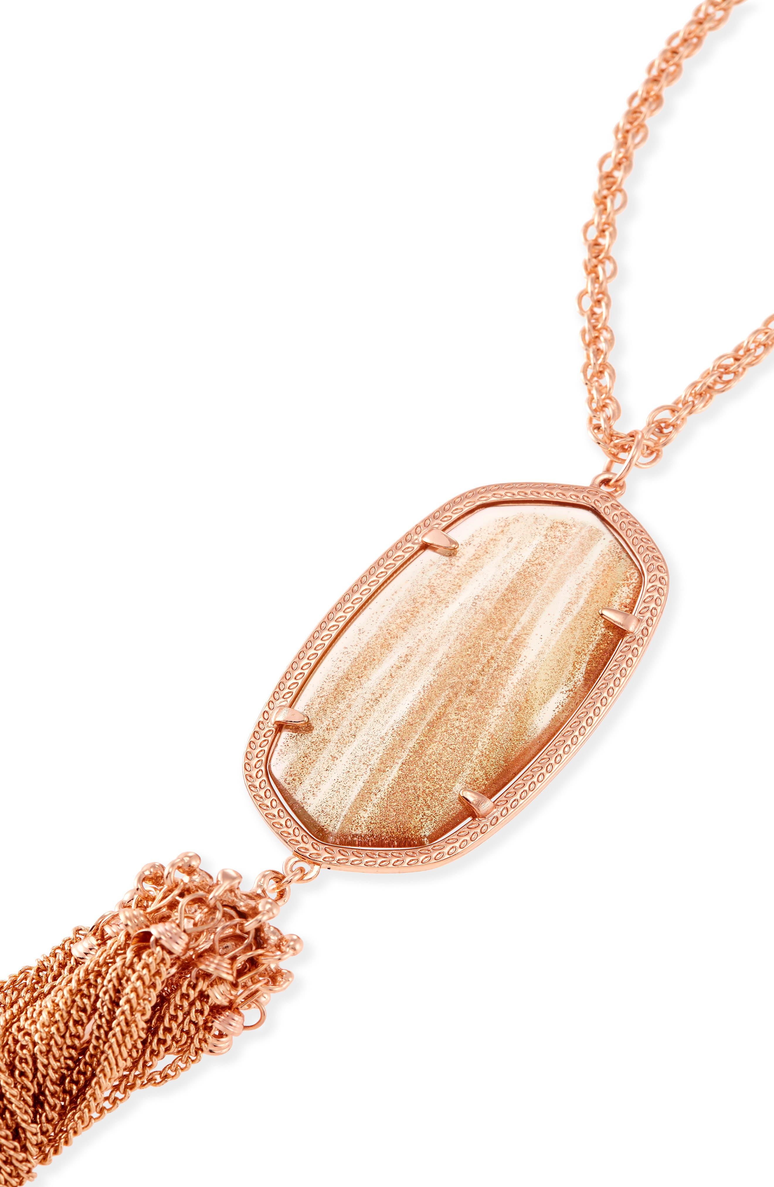 Rayne Stone Tassel Pendant Necklace,                             Alternate thumbnail 217, color,