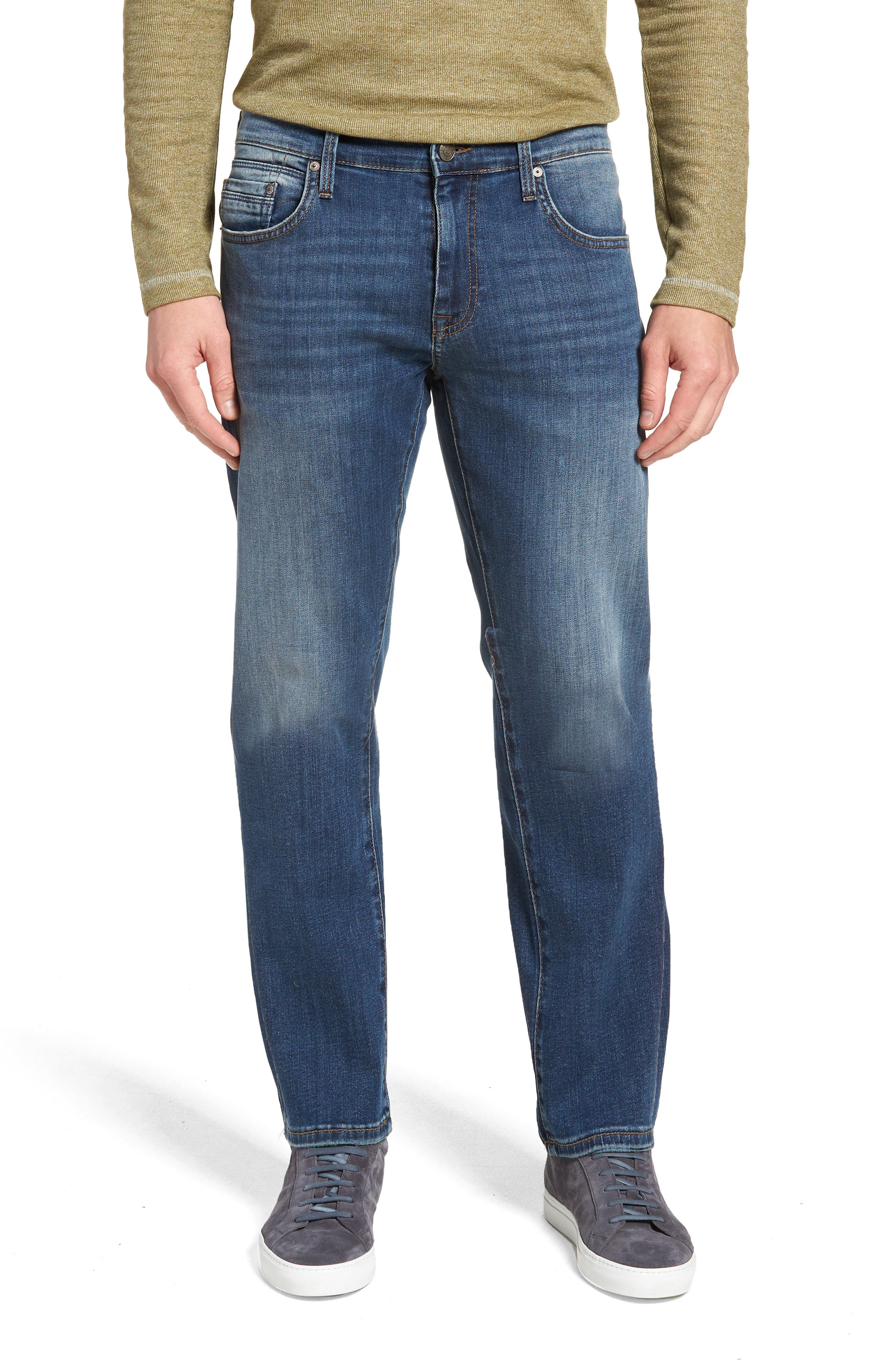 Zach Straight Leg Jeans,                             Main thumbnail 1, color,                             MID USED CAPITOL HILL