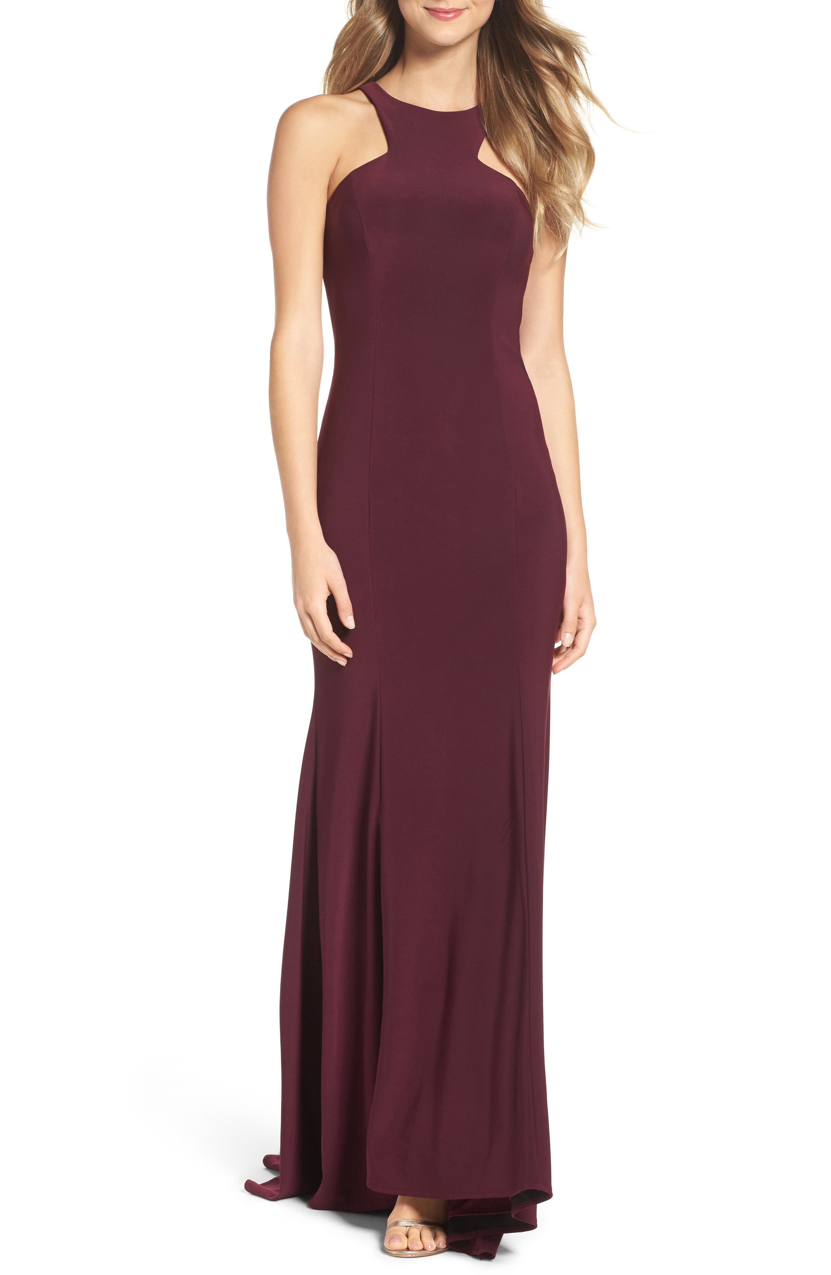 Jersey Cutout Bodice Gown,                             Main thumbnail 1, color,                             500