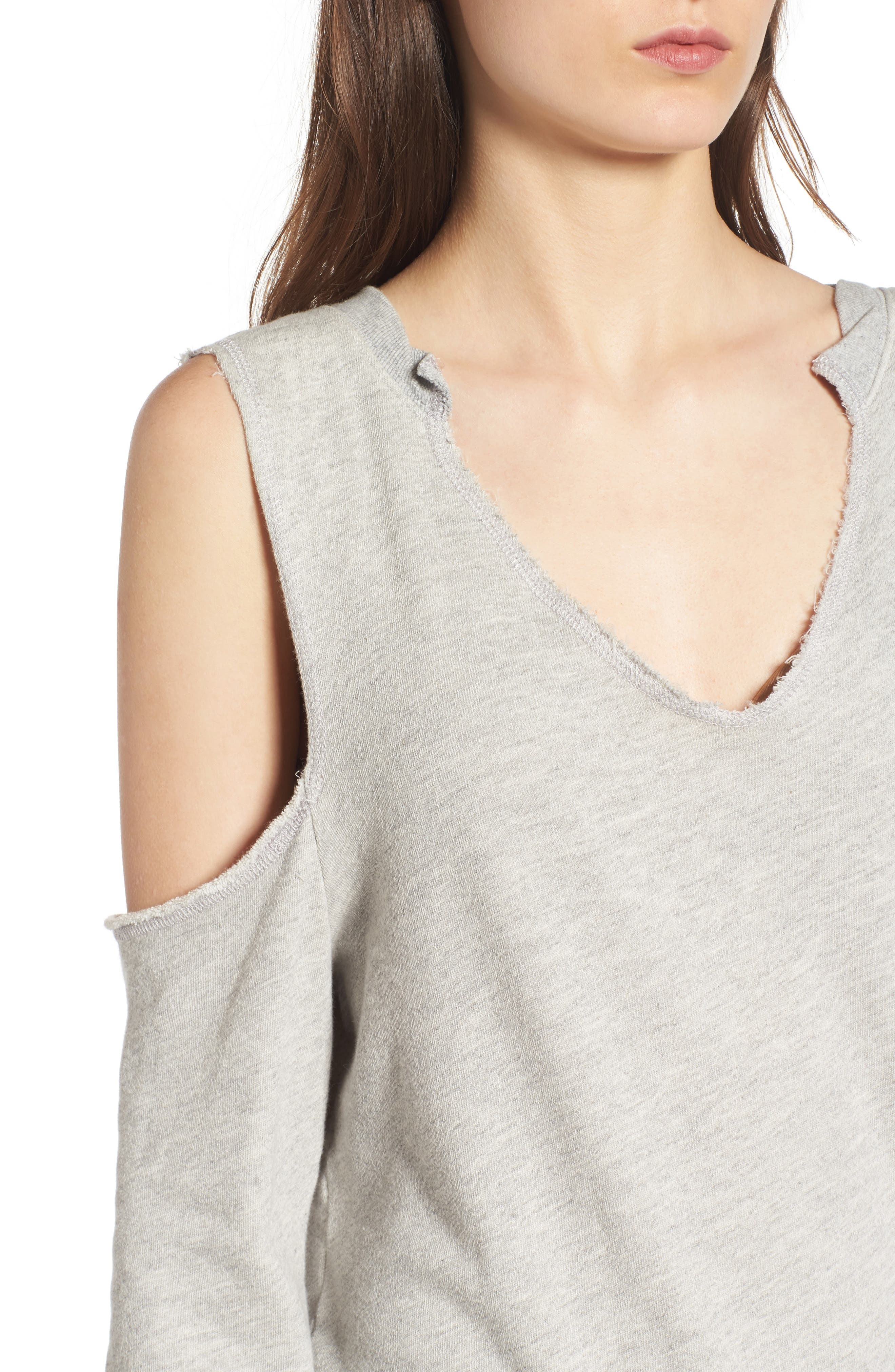 Cold Shoulder Sweatshirt,                             Alternate thumbnail 4, color,                             031