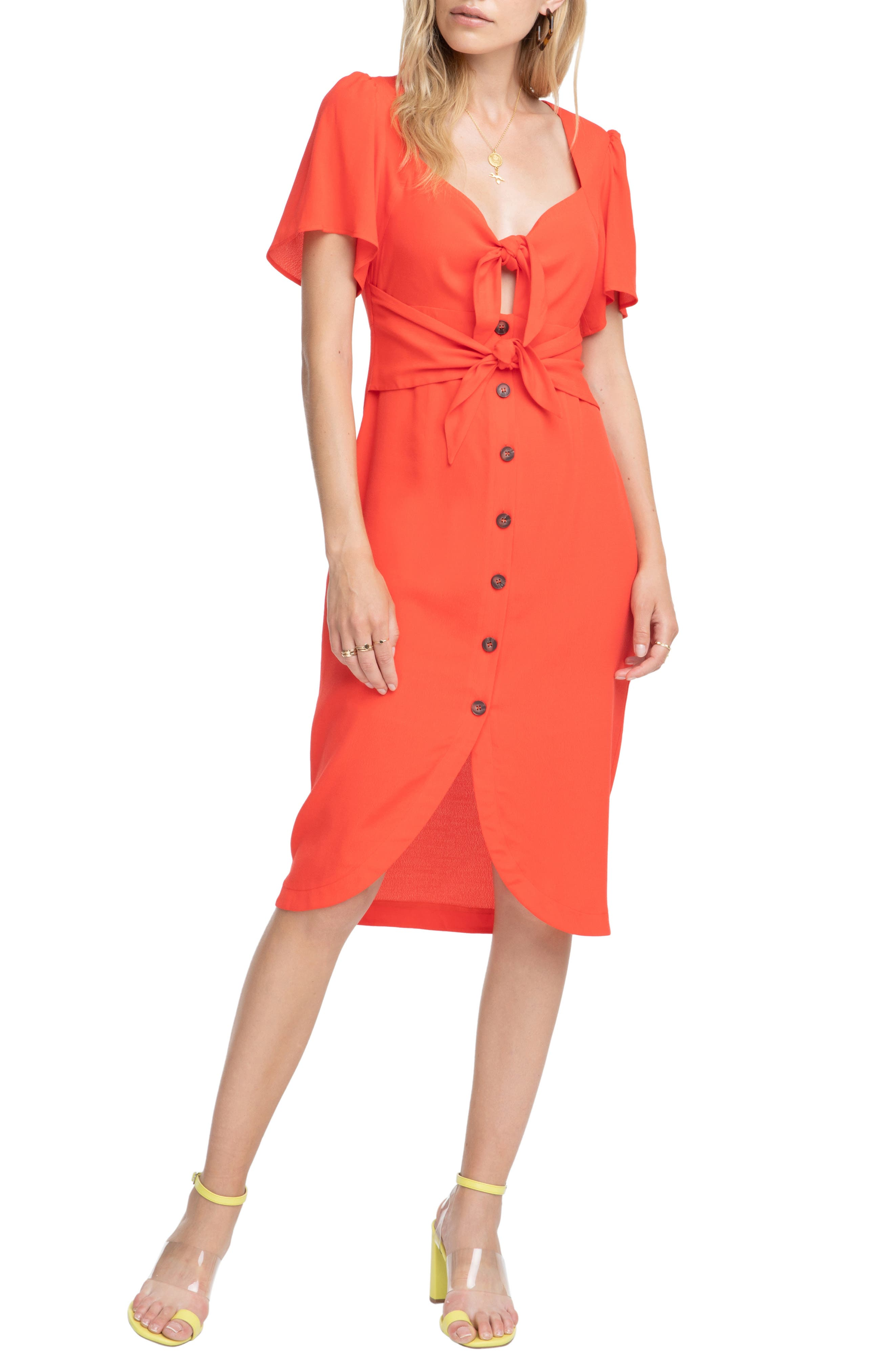 Astr The Label Cole Dress, Red