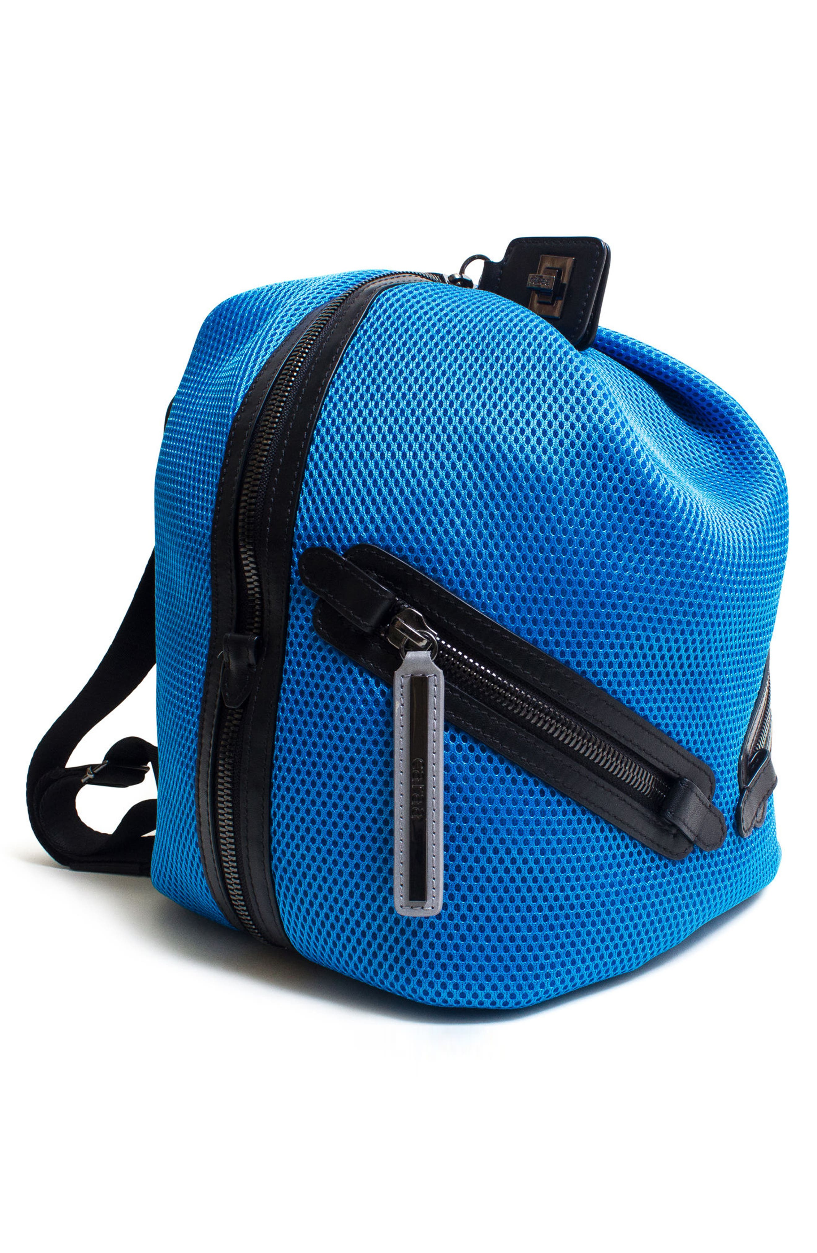 Dance 2 Mesh with Leather Trim Backpack,                             Alternate thumbnail 8, color,