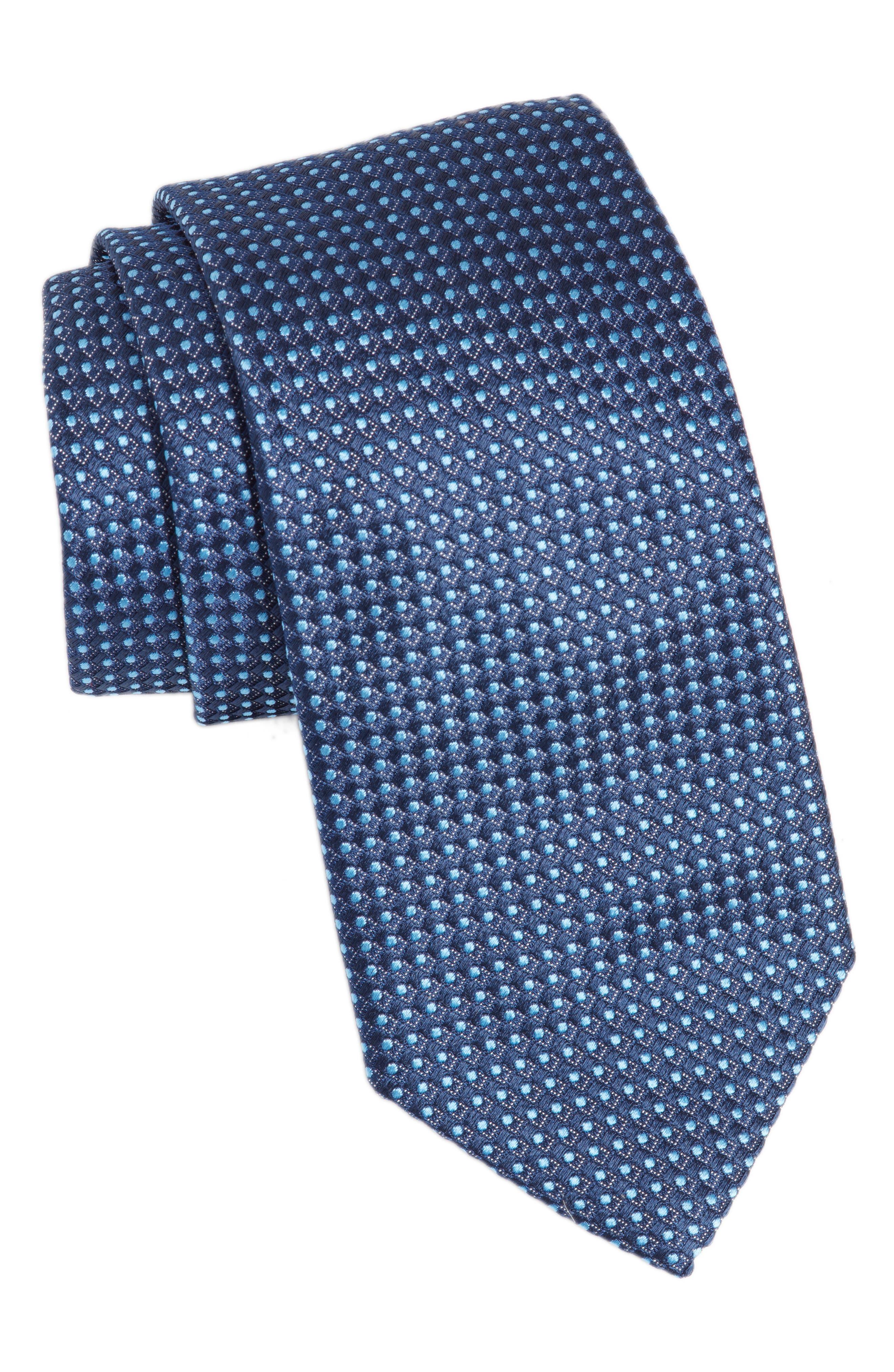 Dot Silk Tie,                         Main,                         color, 412