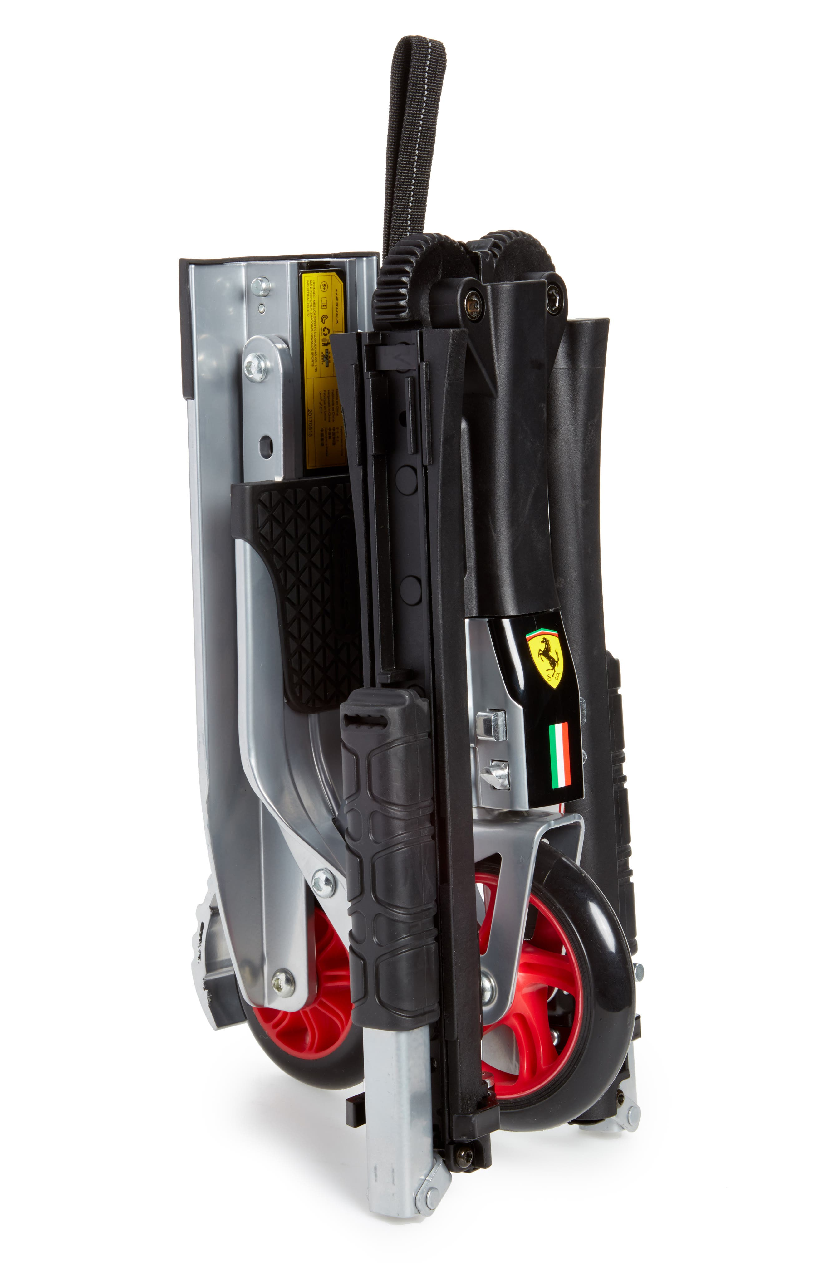 Foldable Scooter & Backpack Set,                             Alternate thumbnail 3, color,                             BLACK