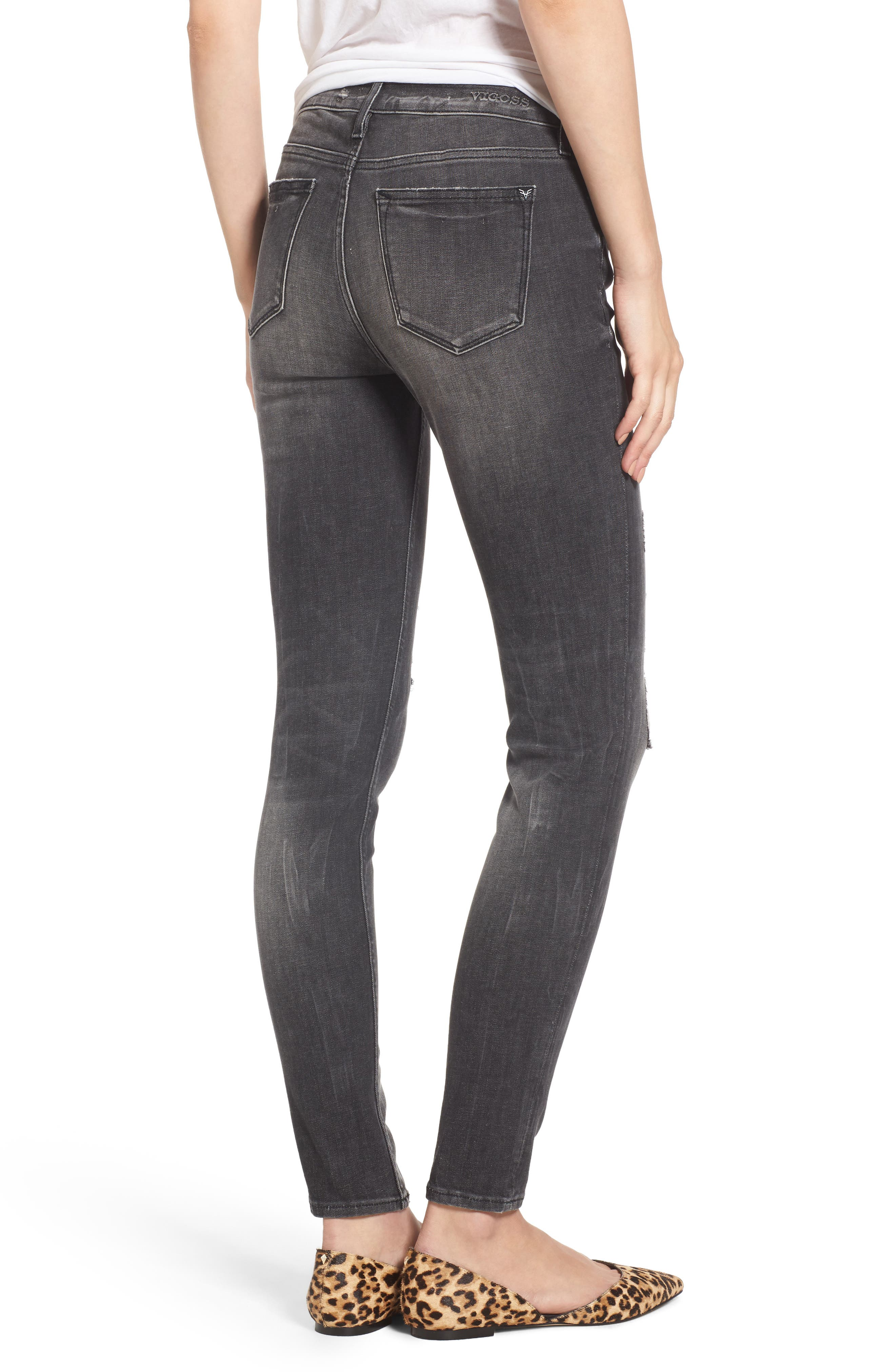 Jagger Ripped Skinny Jeans,                             Alternate thumbnail 2, color,                             020