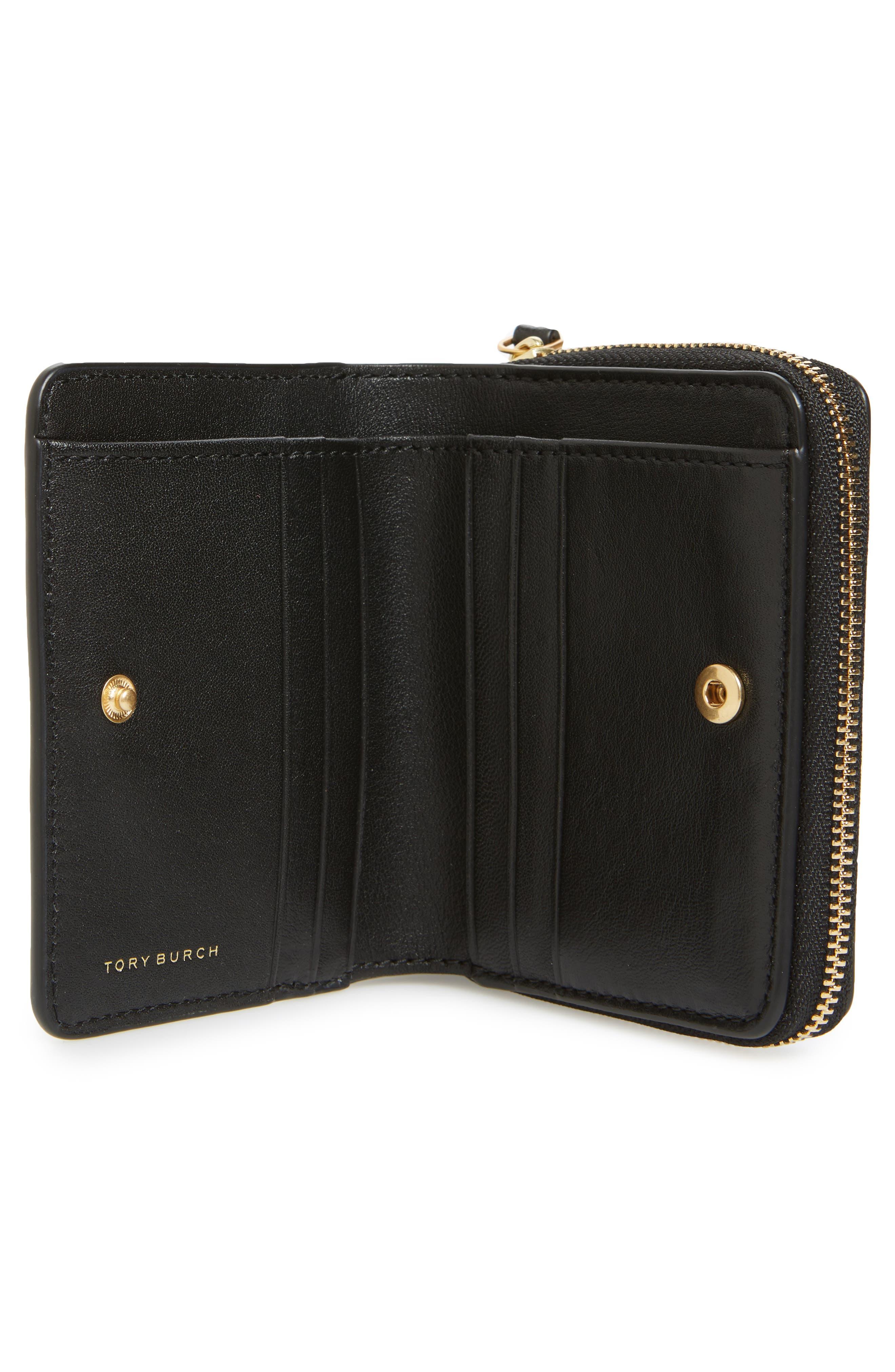 Mini Charlie Leather Wallet,                             Alternate thumbnail 2, color,                             001