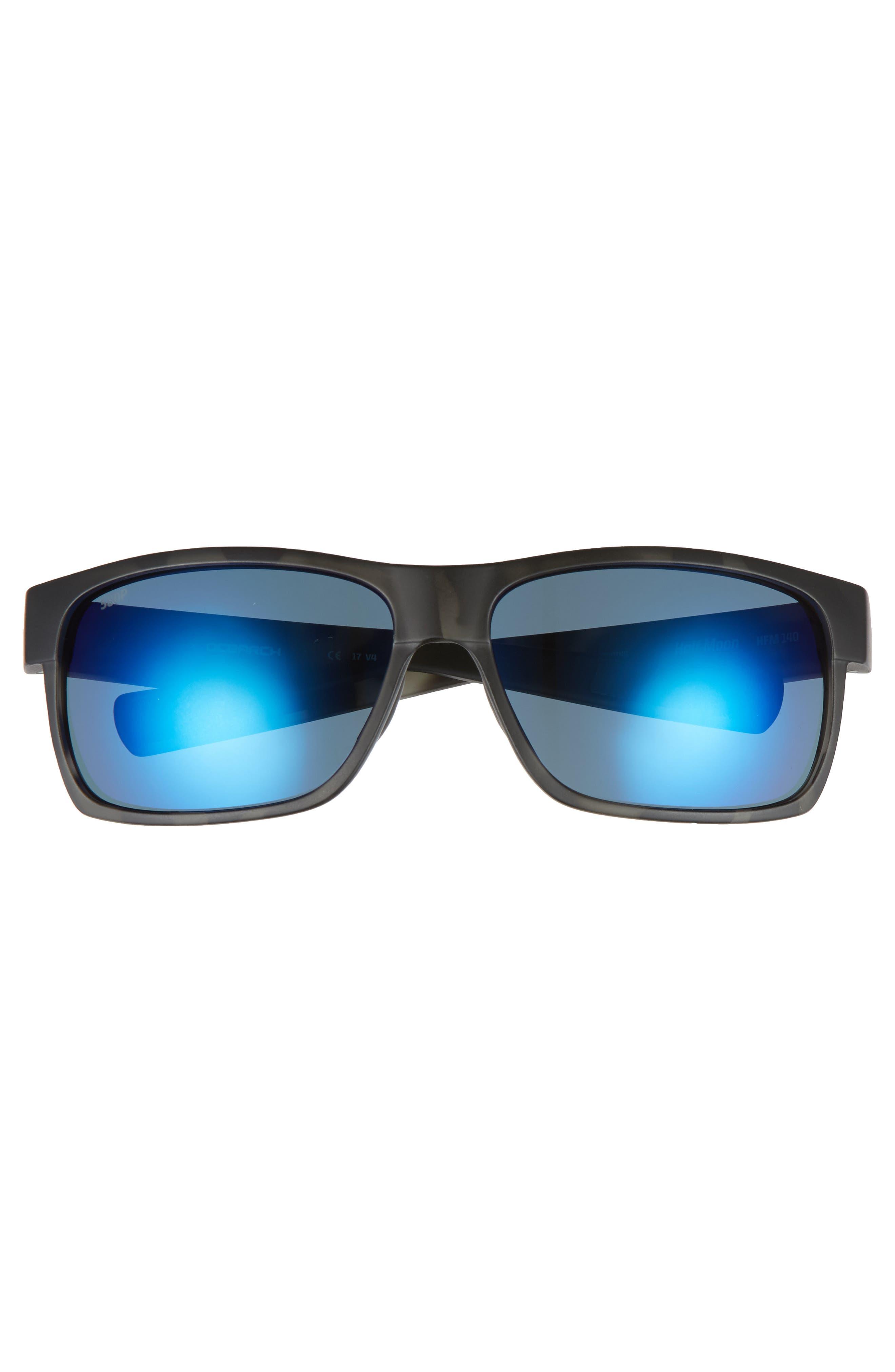 Half Moon 60mm Polarized Sunglasses,                             Alternate thumbnail 2, color,                             BLACK TORTOISE/ SILVER MIRROR