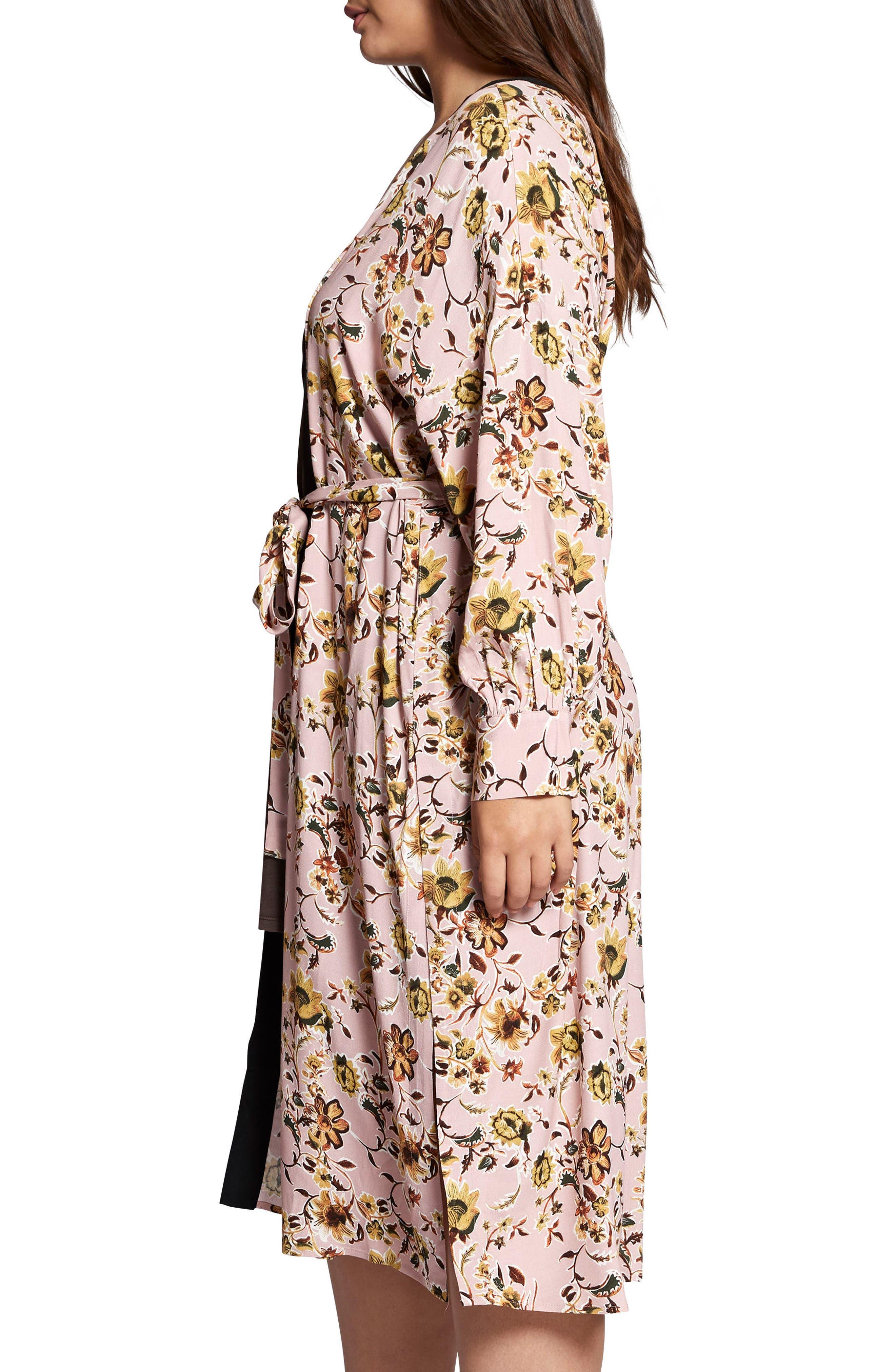 Calico Kimono,                             Alternate thumbnail 3, color,                             650