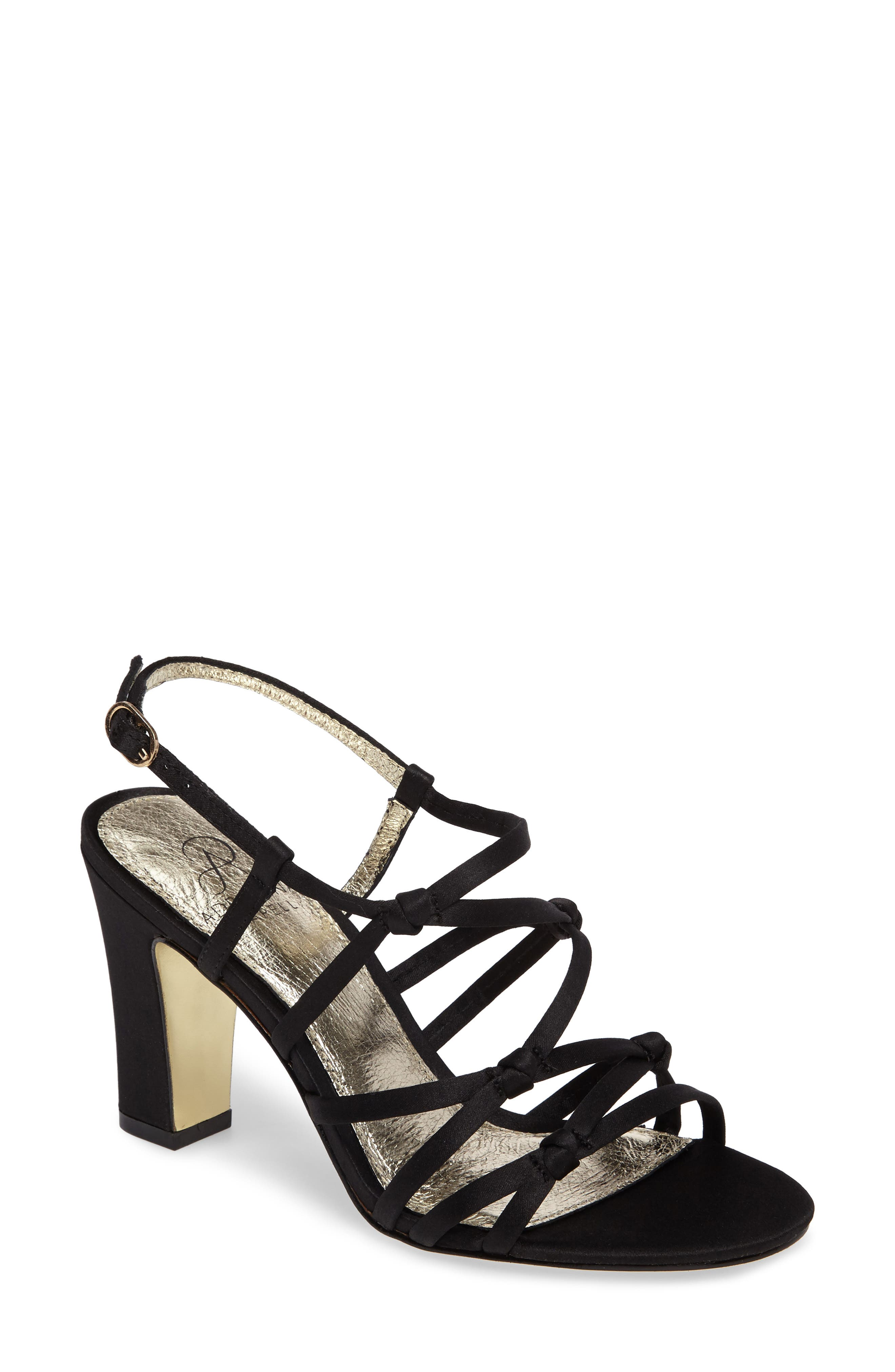 Adelson Knotted Strappy Sandal,                             Main thumbnail 1, color,                             001