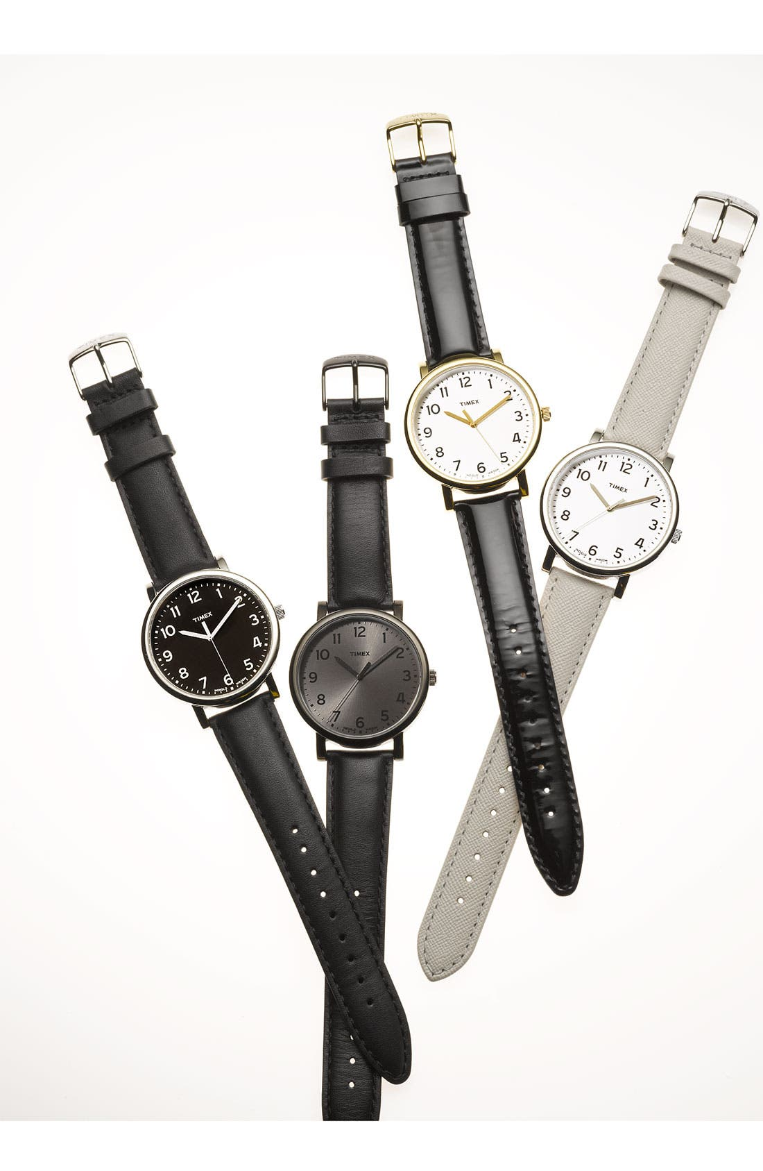'Easy Reader' Leather Strap Watch, 42mm,                         Main,                         color, 650
