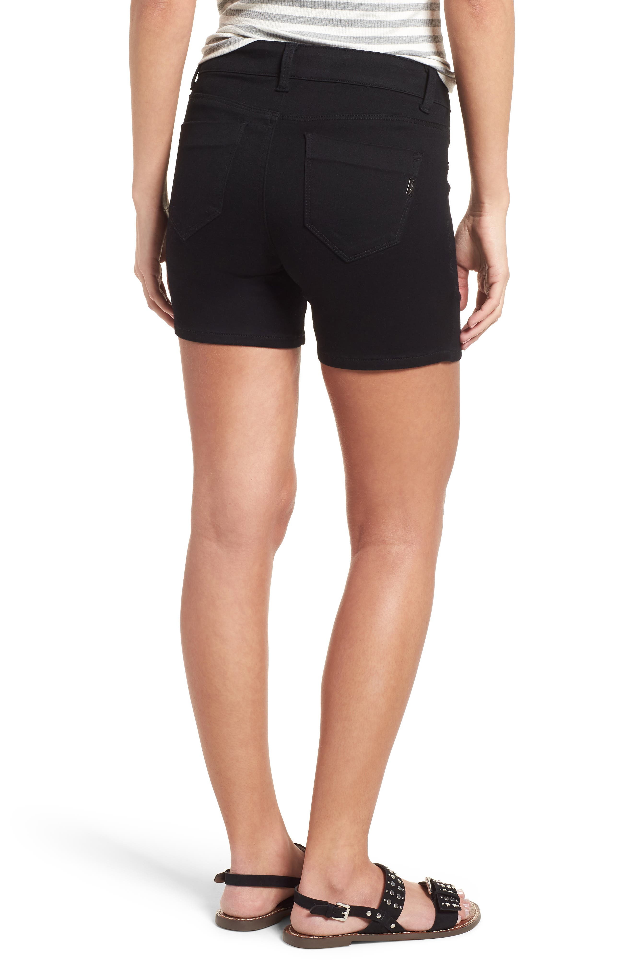 Butter Denim Shorts,                             Alternate thumbnail 2, color,                             001