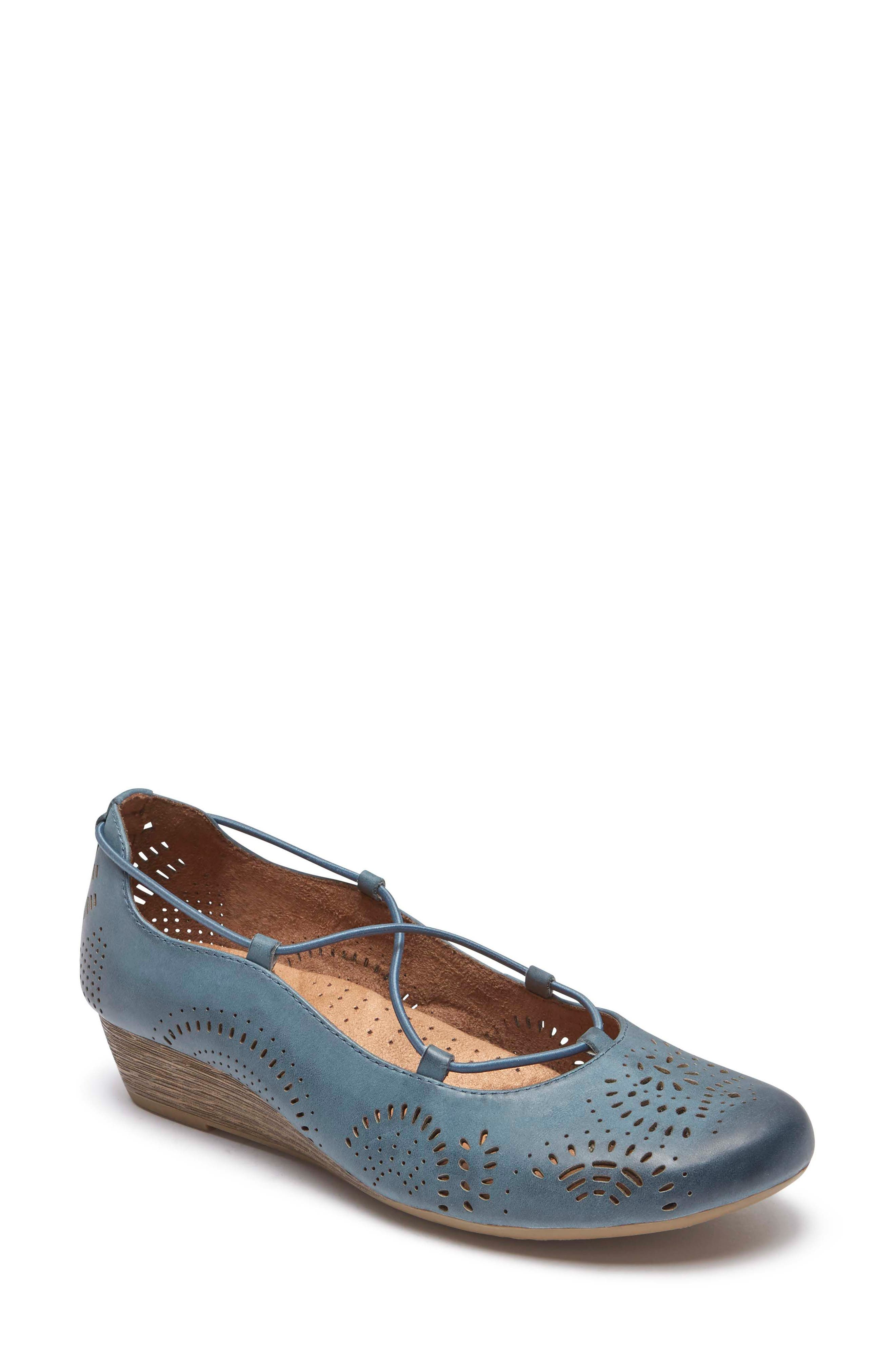 Janna Cross Strap Wedge Sandal,                             Main thumbnail 5, color,