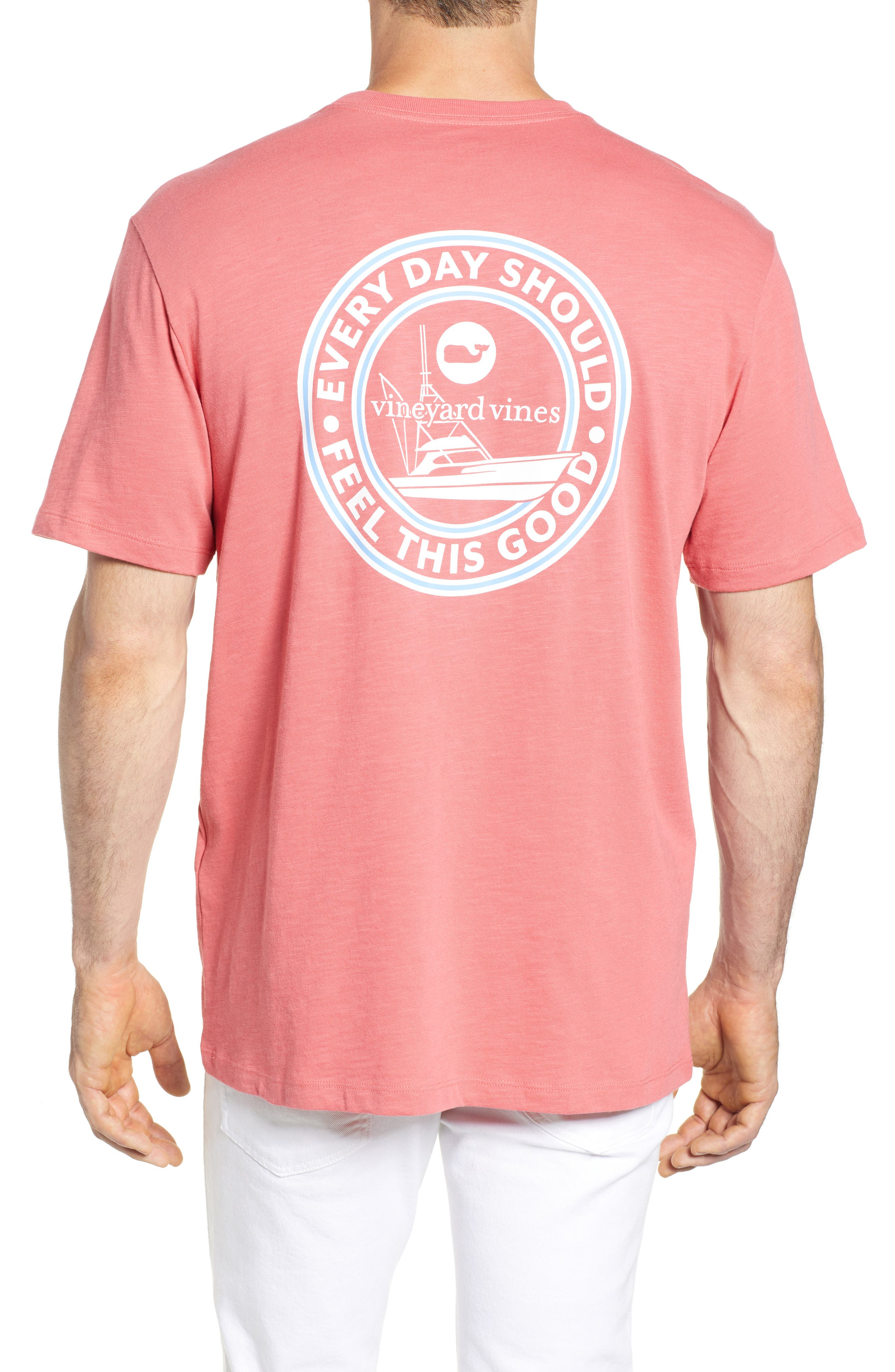VINEYARD VINES,                             Every Day Should Feel This Good Pocket T-Shirt,                             Alternate thumbnail 2, color,                             628
