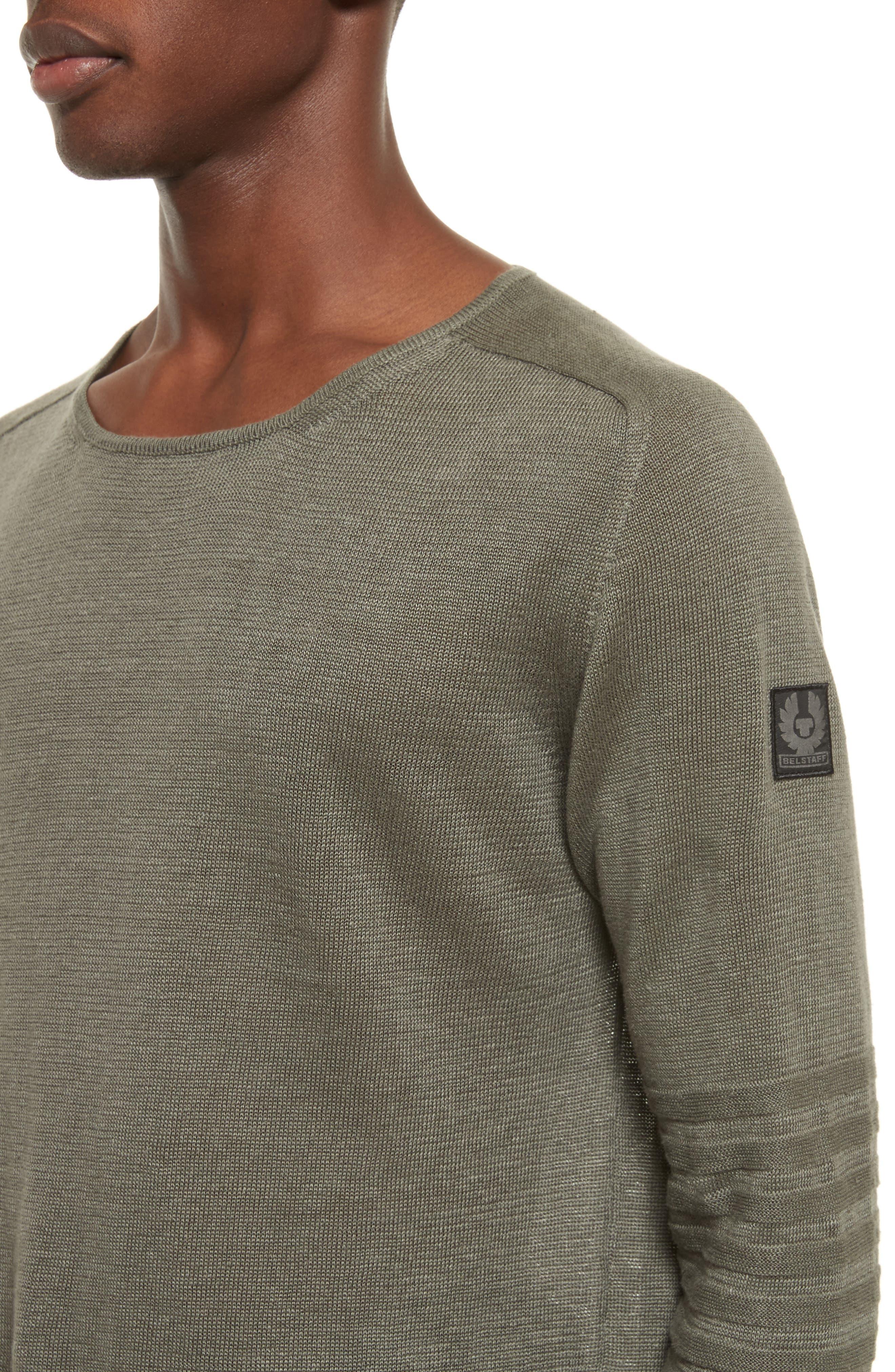 Exford Linen Crewneck Sweater,                             Alternate thumbnail 8, color,