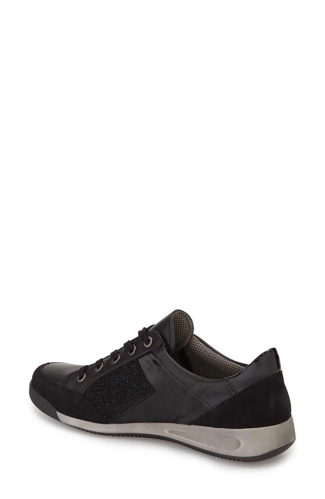 Rina Sneaker,                             Alternate thumbnail 2, color,                             BLACK SUEDE