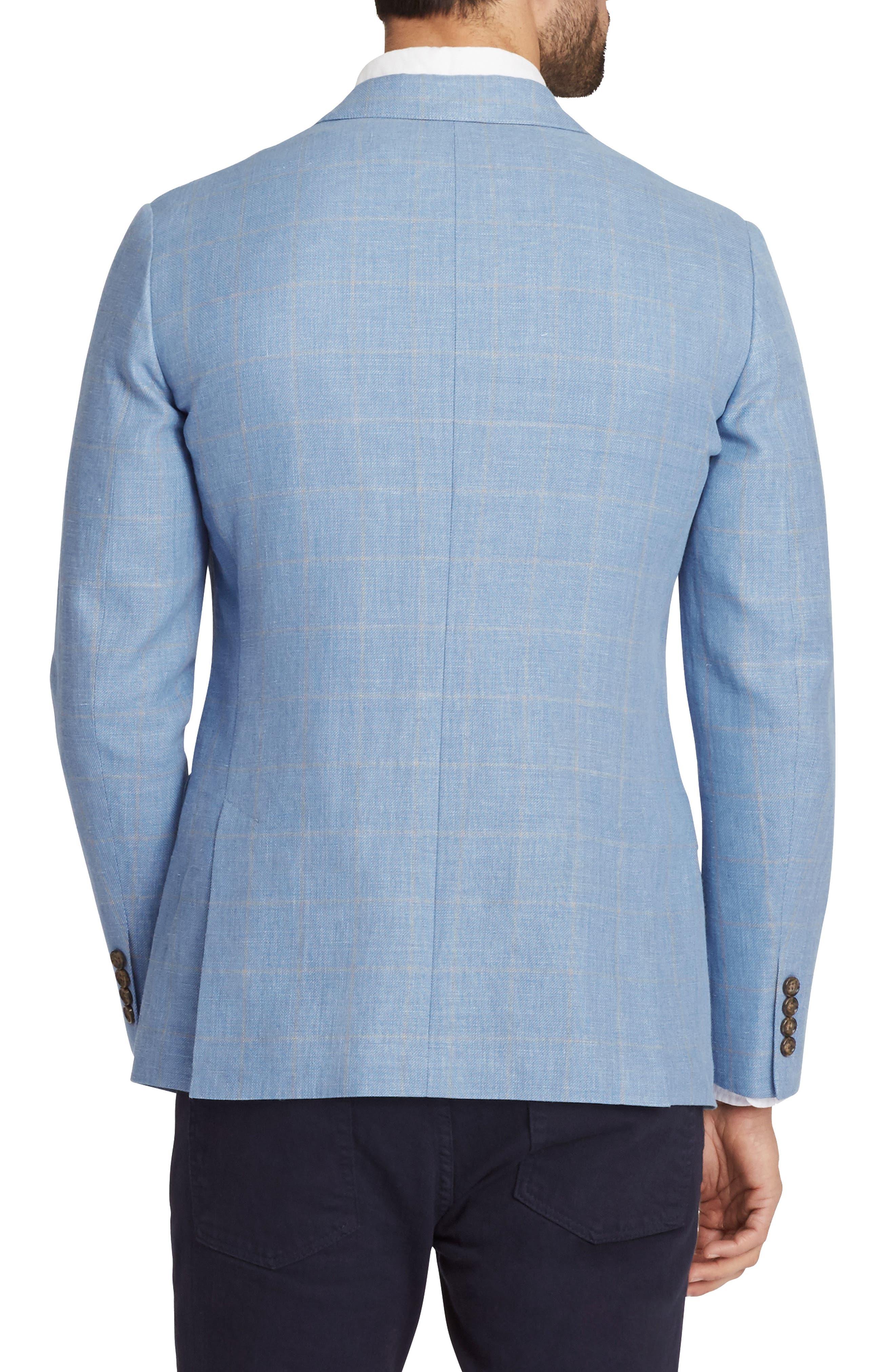 Slim Fit Cotton & Linen Unconstructed Blazer,                             Alternate thumbnail 2, color,                             400