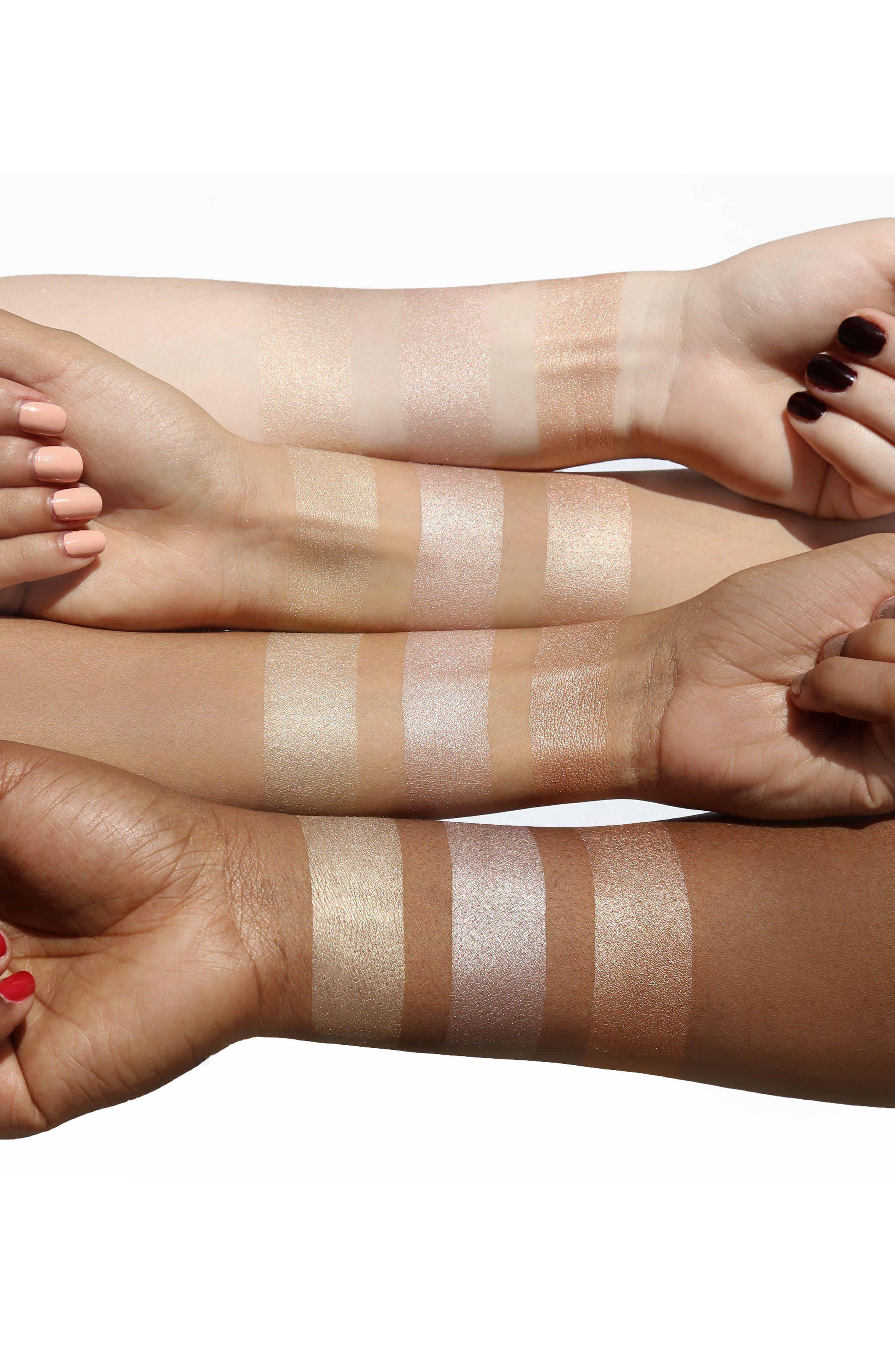 Skinny Dip, Peach & Rose Gold Powder Highlighter Trio,                             Alternate thumbnail 4, color,                             000