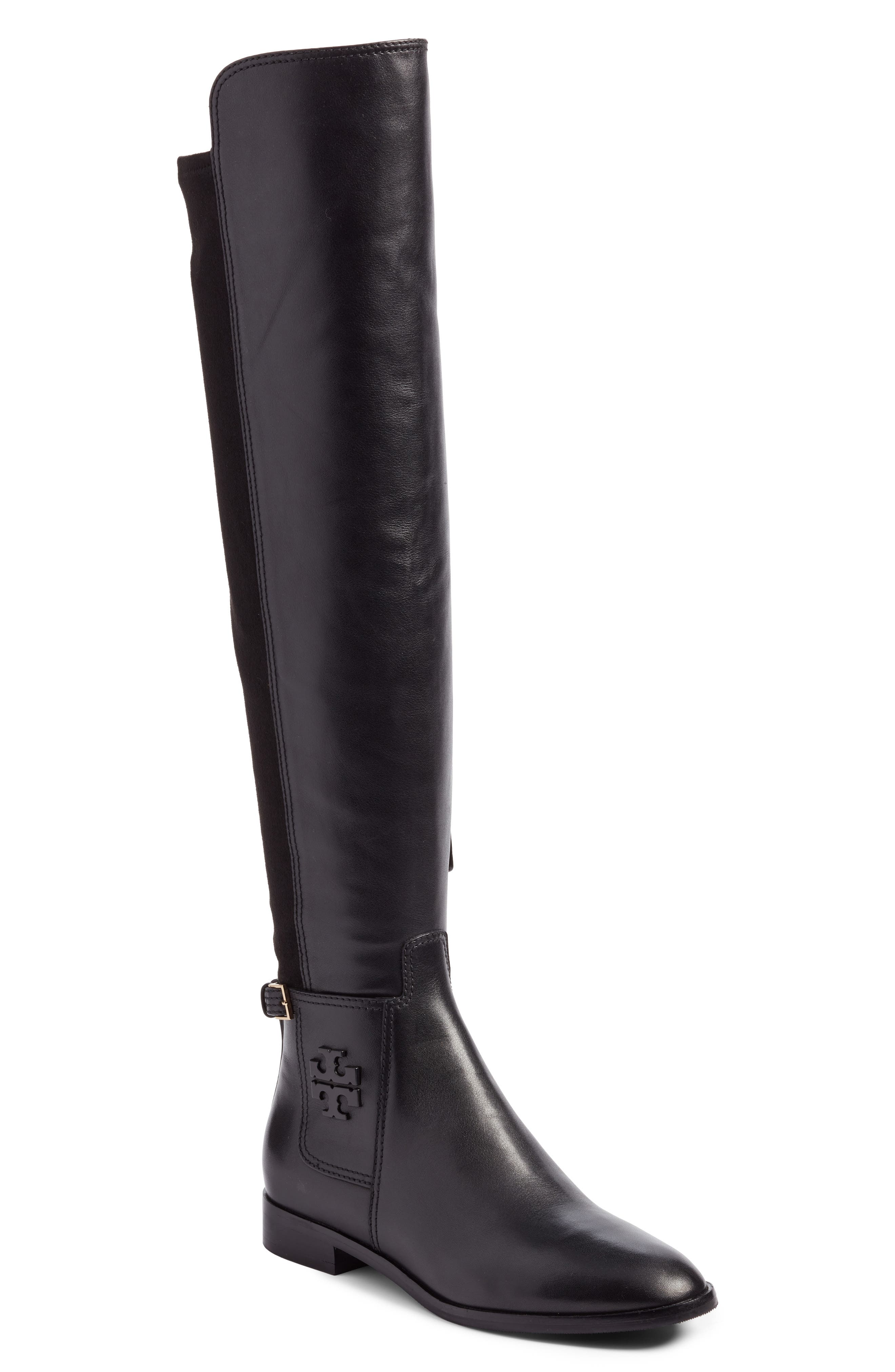 TORY BURCH Wyatt Over the Knee Boot, Main, color, 001