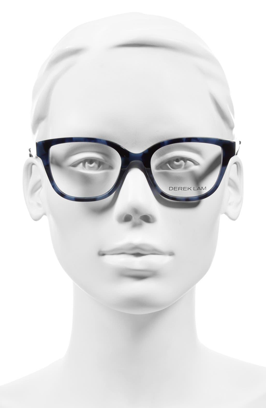50mm Optical Glasses,                             Alternate thumbnail 2, color,                             BLUE TORTOISE