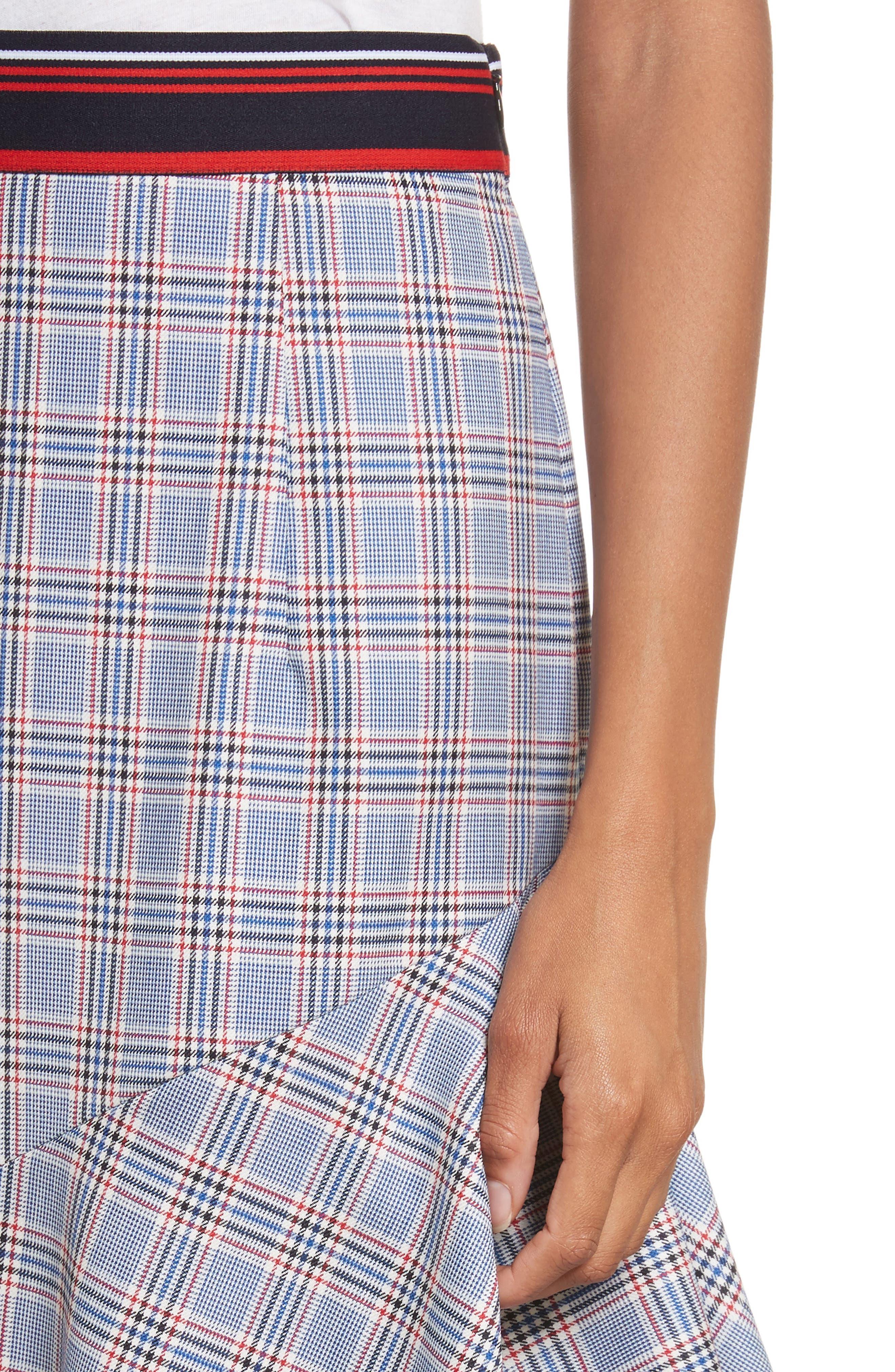 Asymmetrical Ruffle Hem Skirt,                             Alternate thumbnail 4, color,                             464