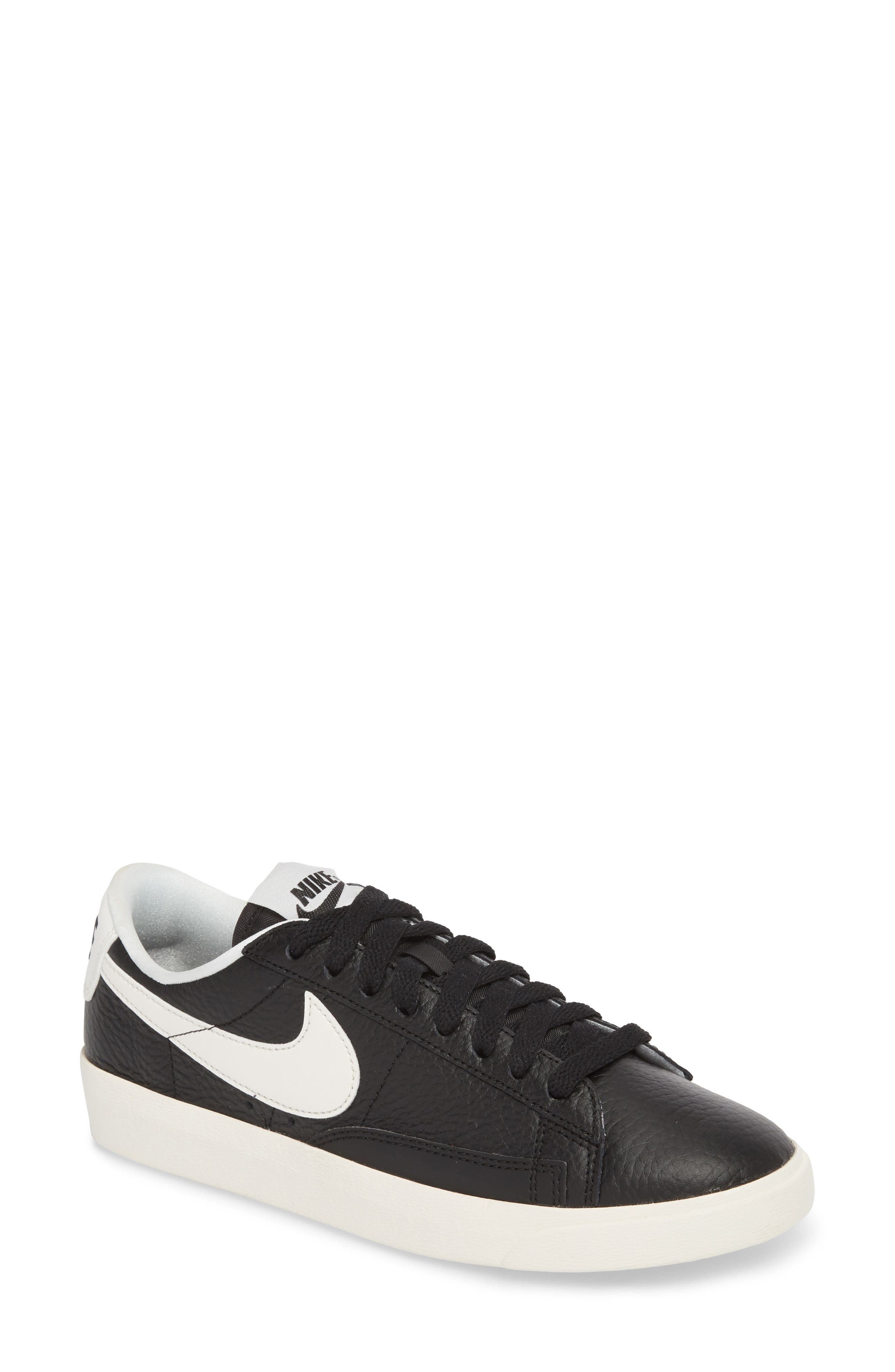 Blazer Premium Low Sneaker,                             Main thumbnail 1, color,                             BLACK/ WHITE/ BLACK