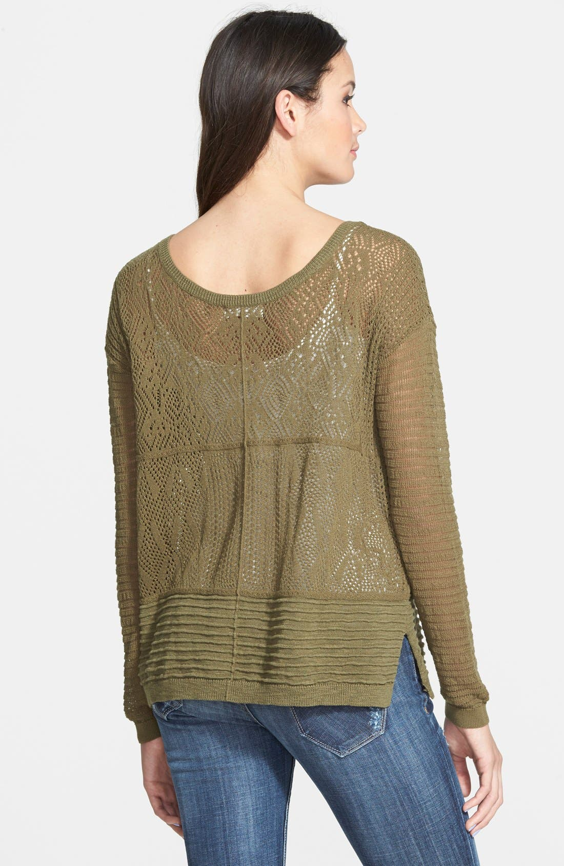 Mixed Knit Sweater,                             Alternate thumbnail 3, color,                             311