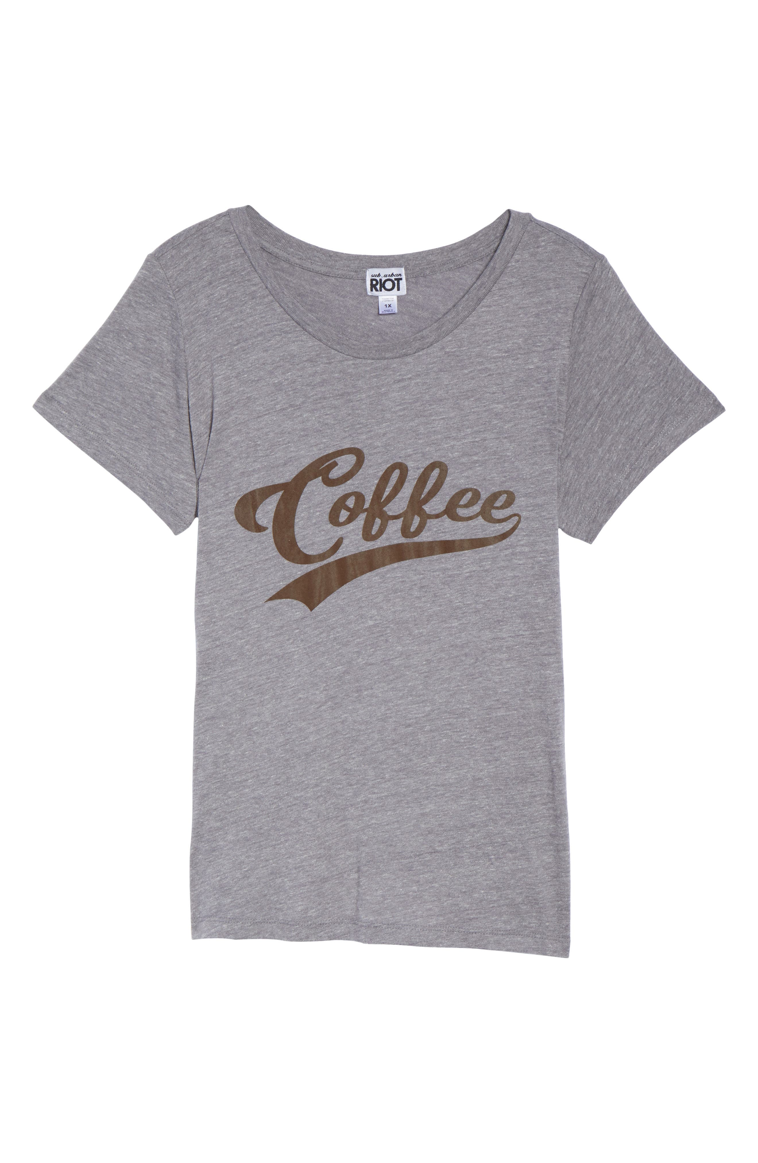Coffee Graphic Tee,                             Alternate thumbnail 6, color,                             050