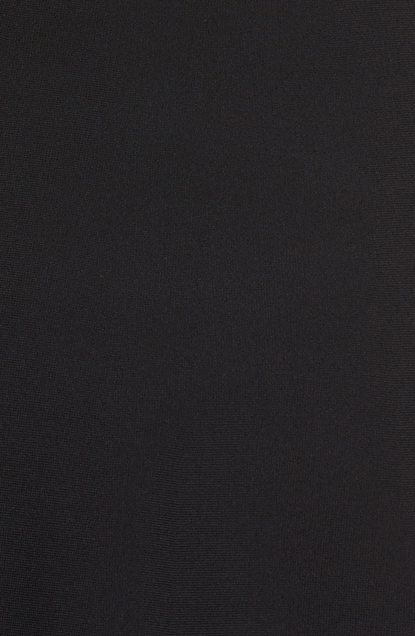 Sleeveless Fit & Flare Dress,                             Alternate thumbnail 5, color,                             001