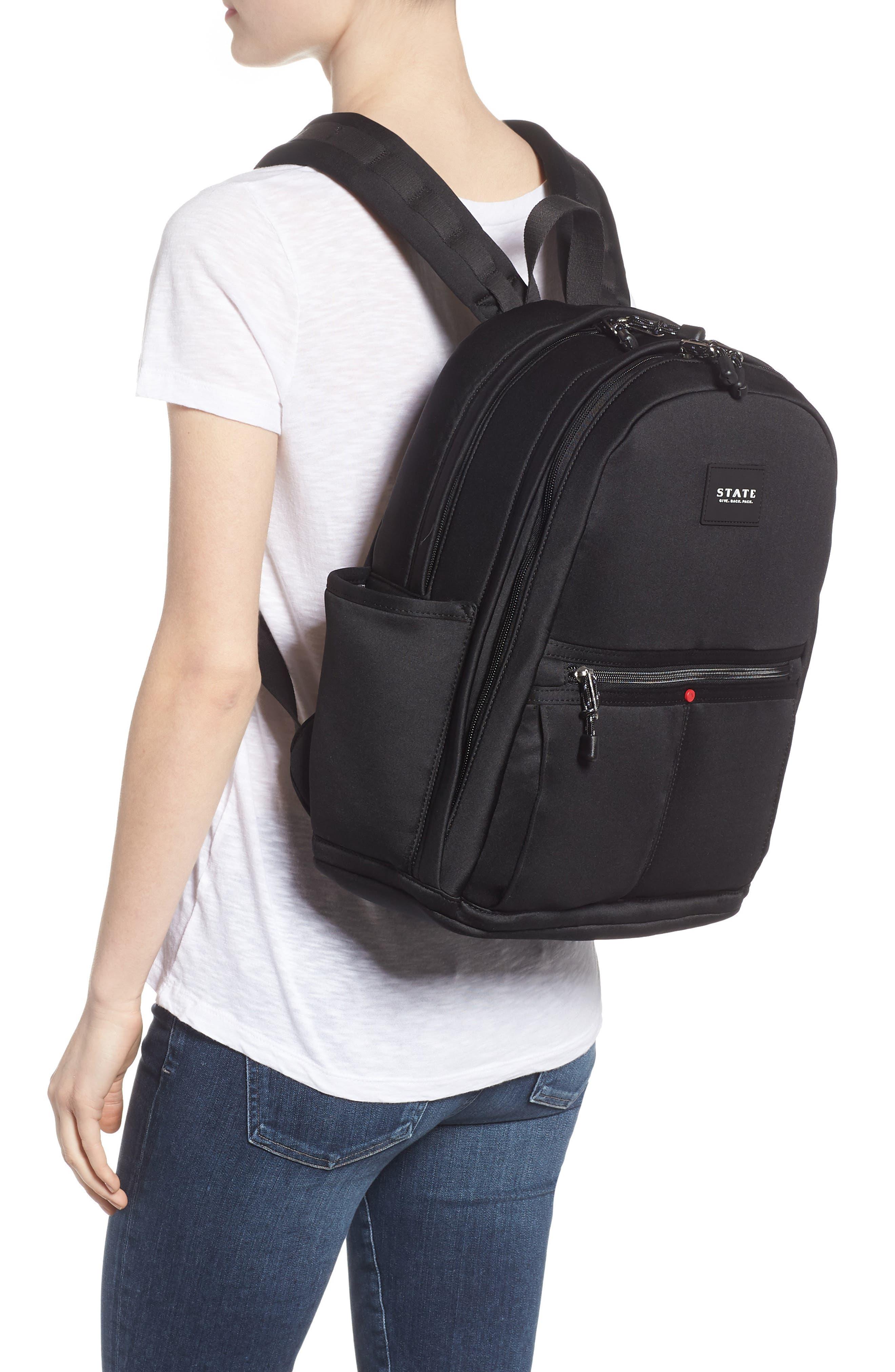 Bedford Neoprene Backpack,                             Alternate thumbnail 2, color,                             BLACK