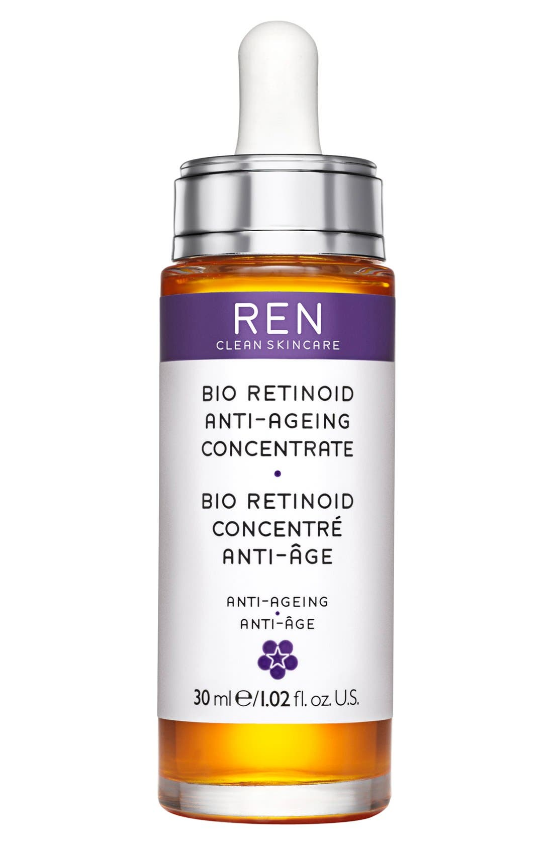 SPACE.NK.apothecary REN Bio Retinoid Anti-Wrinkle Concentrate Oil,                             Main thumbnail 1, color,                             NO COLOR