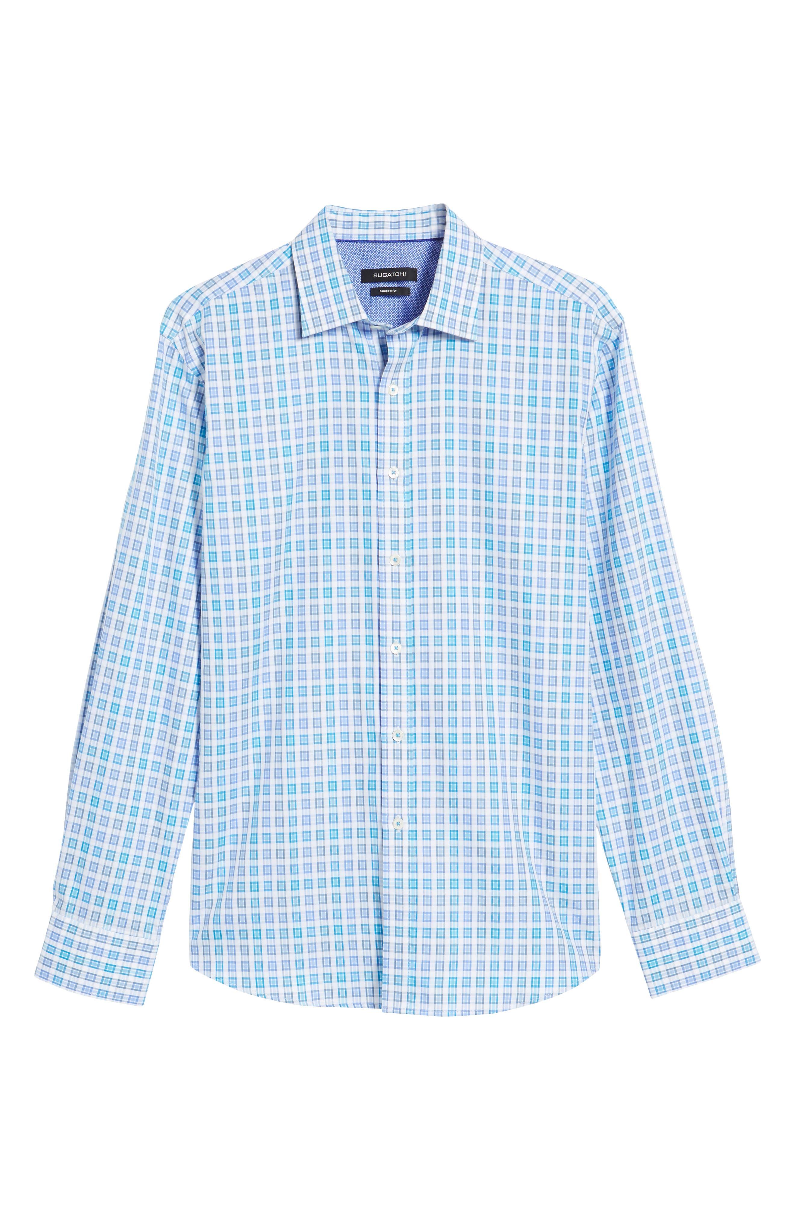 Shaped Fit Check Sport Shirt,                             Alternate thumbnail 6, color,                             424