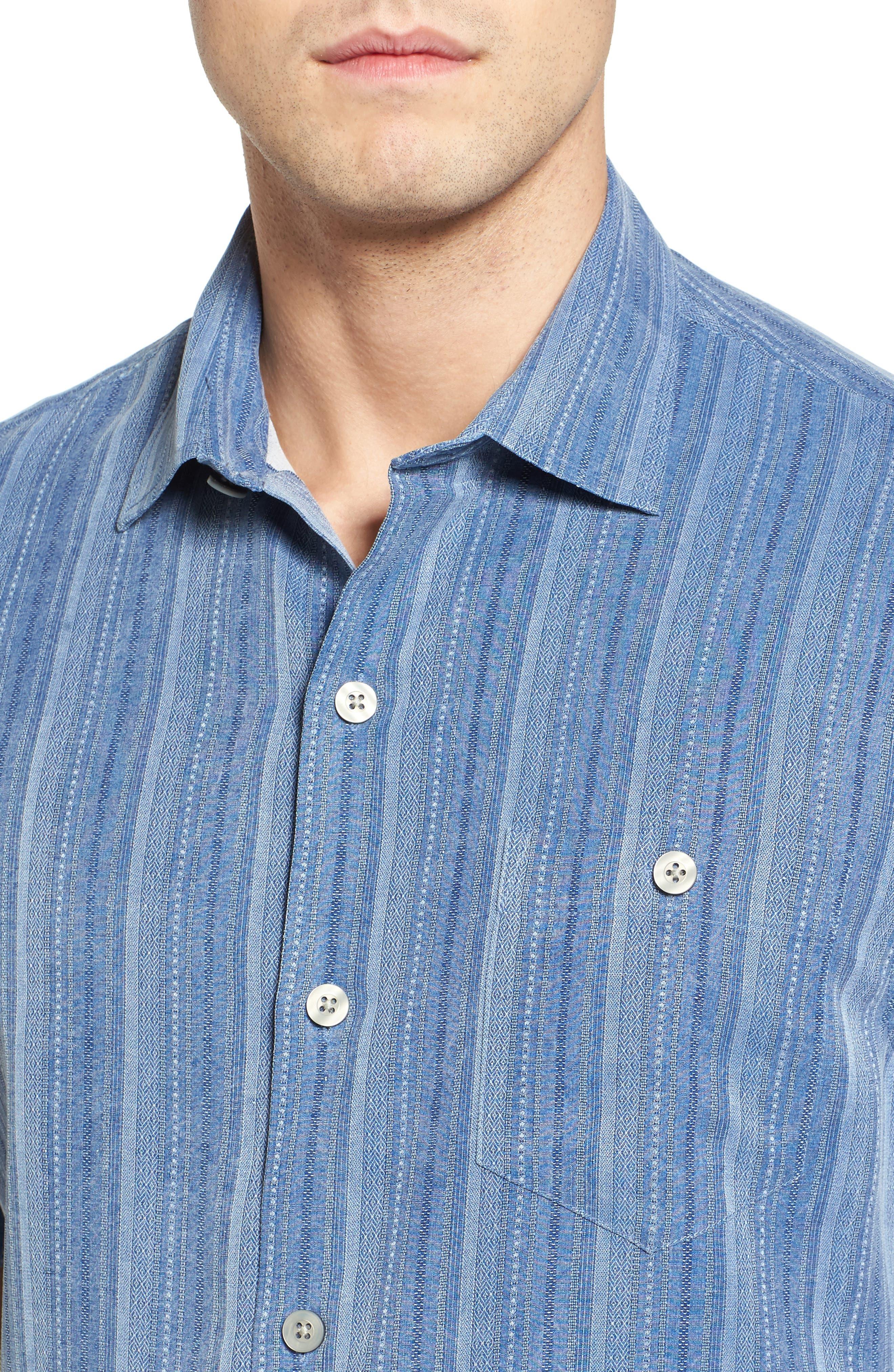 Zaldera Stripe Silk Camp Shirt,                             Alternate thumbnail 15, color,