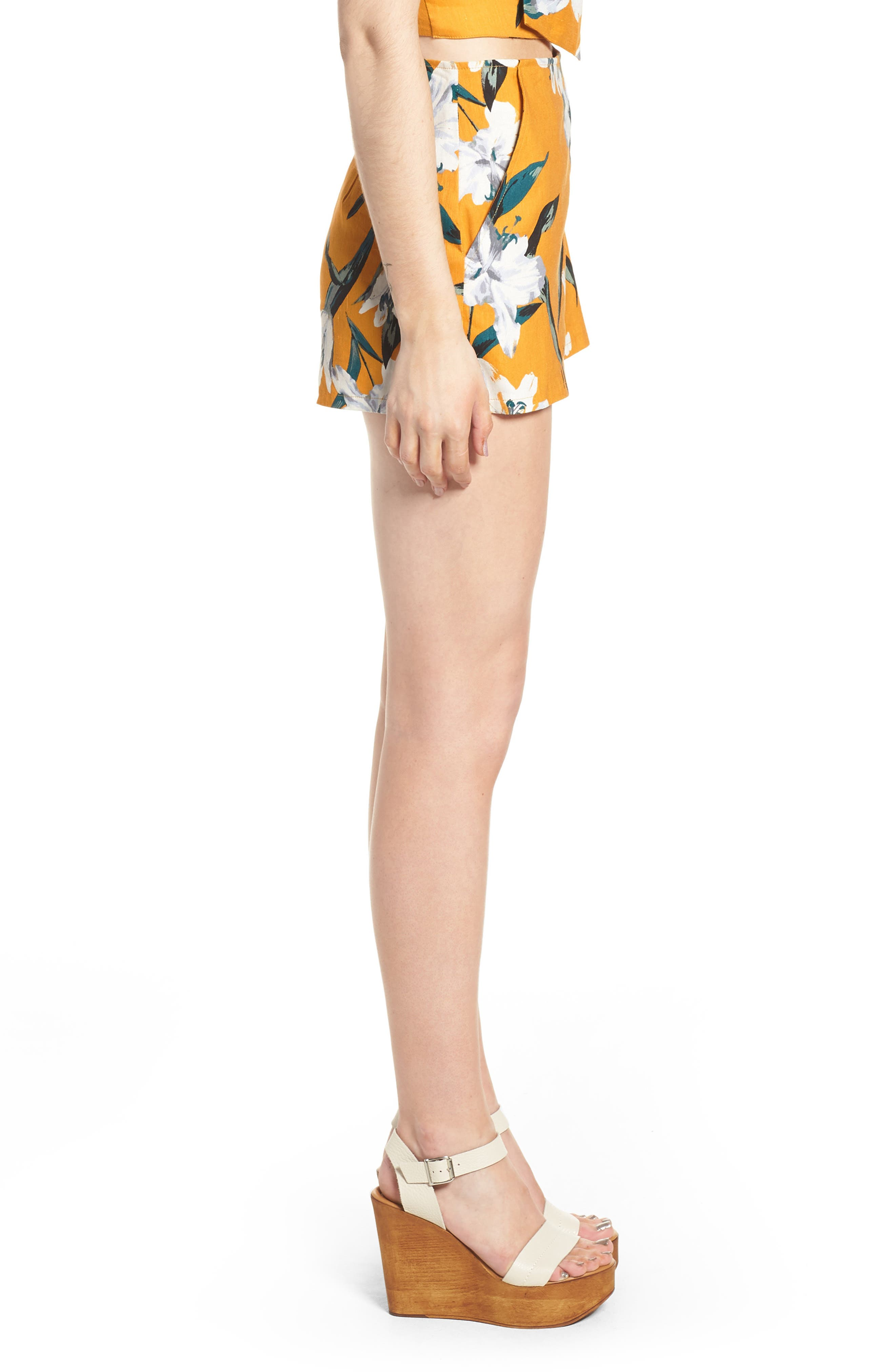 High Waist Linen Blend Shorts,                             Alternate thumbnail 13, color,