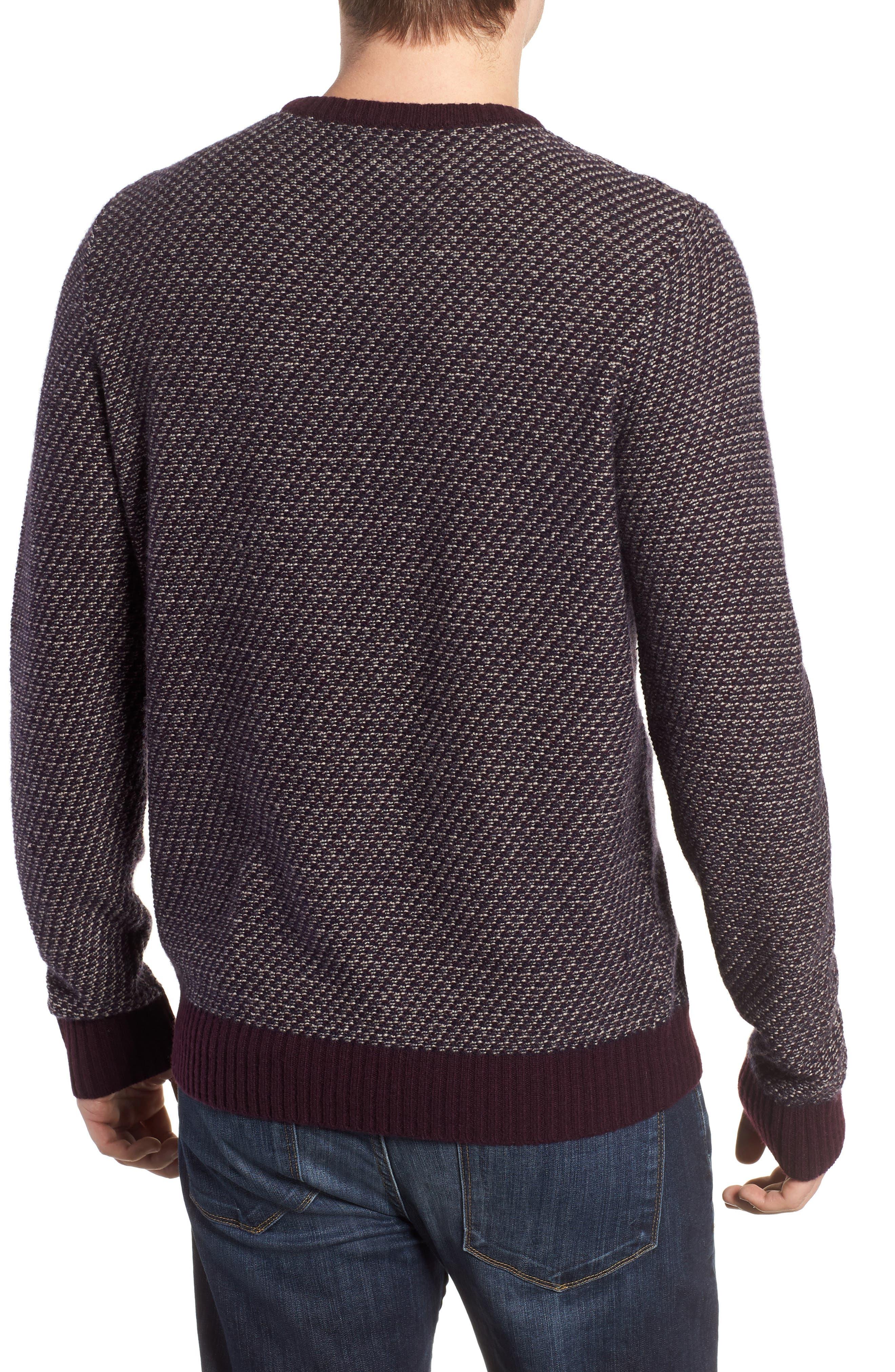 Jacquard Wool & Cashmere Sweater,                             Alternate thumbnail 2, color,                             938