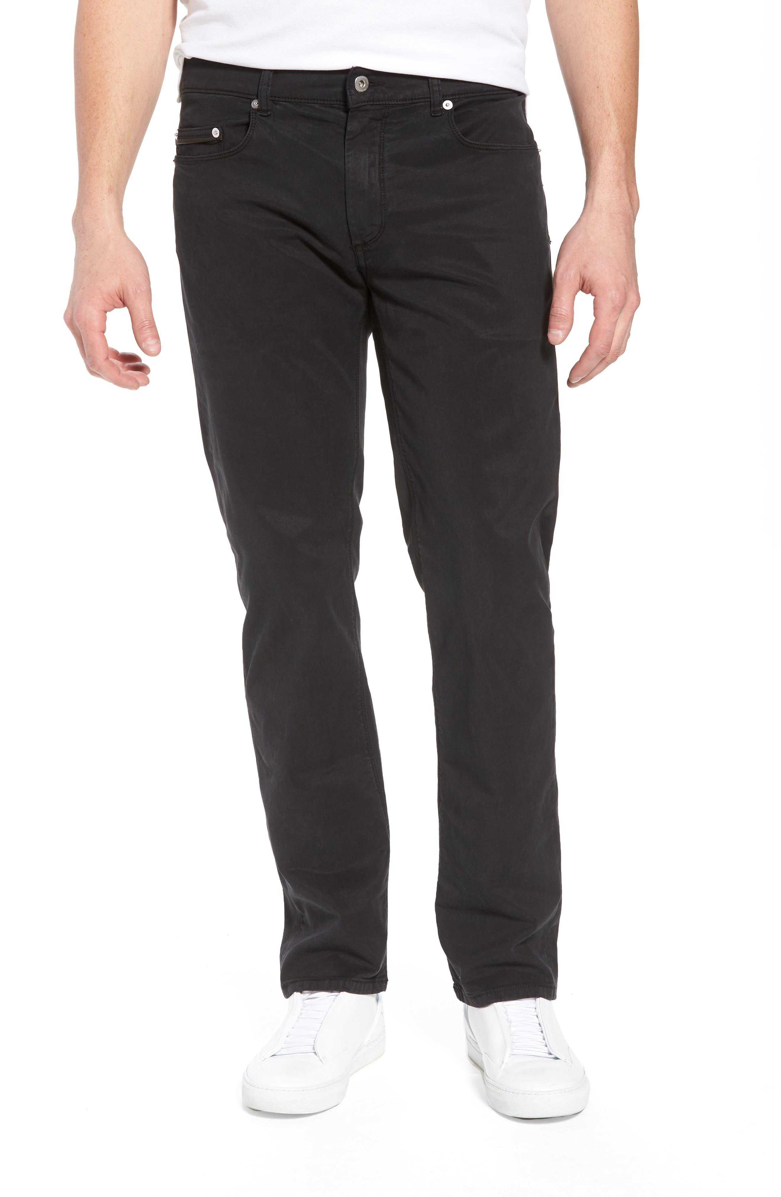 BUGATCHI Trim Fit Pants, Main, color, 001