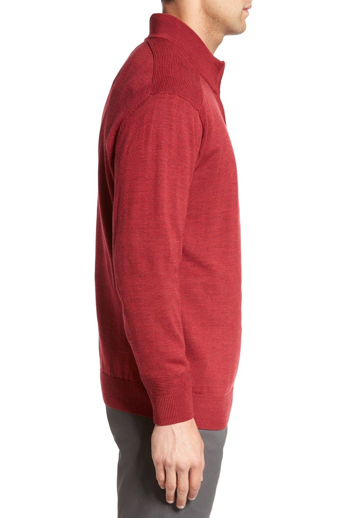 Douglas Quarter Zip Wool Blend Sweater,                             Alternate thumbnail 18, color,