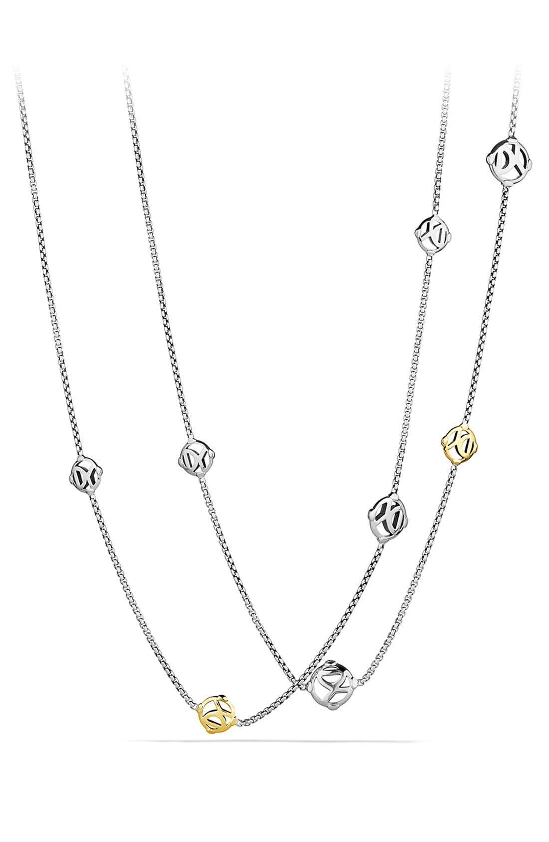 'Chain' DY Logo Chain Necklace with Gold,                             Alternate thumbnail 2, color,                             040