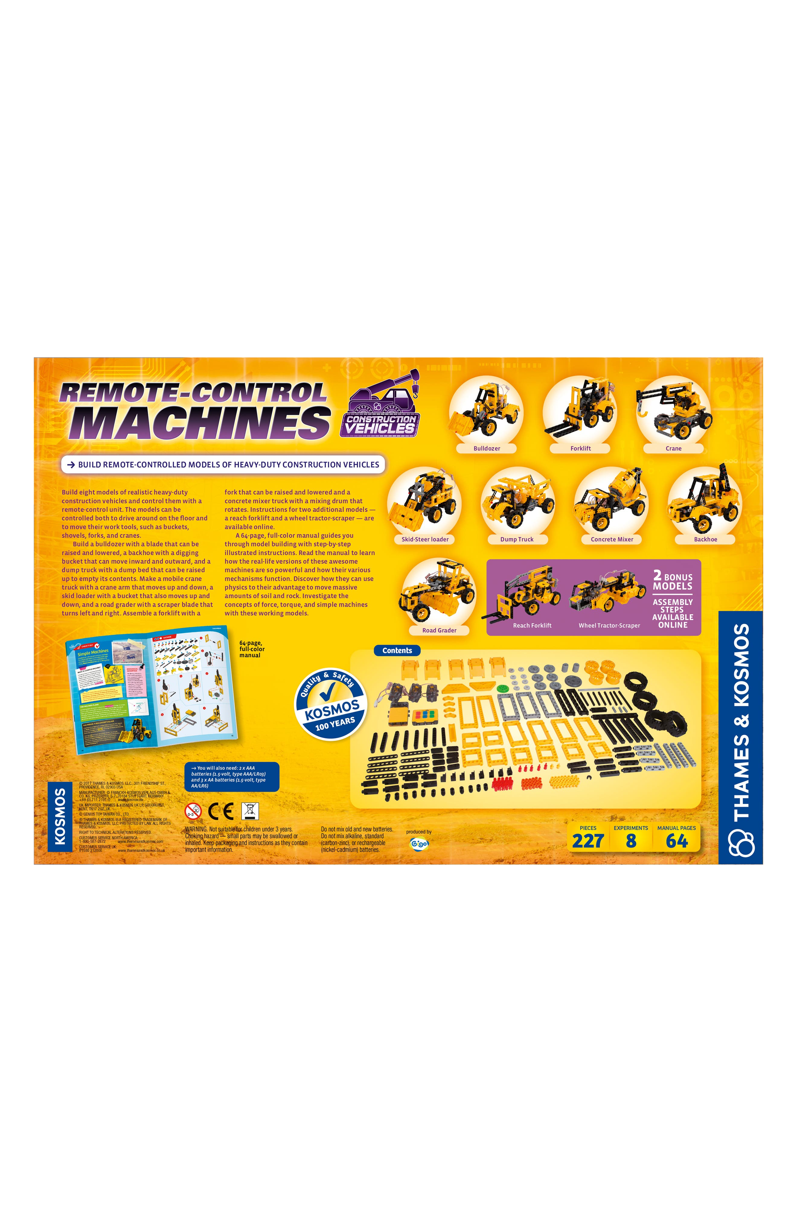 Remote Control Machines Construction Vehicles Kit,                             Alternate thumbnail 2, color,                             MULTI
