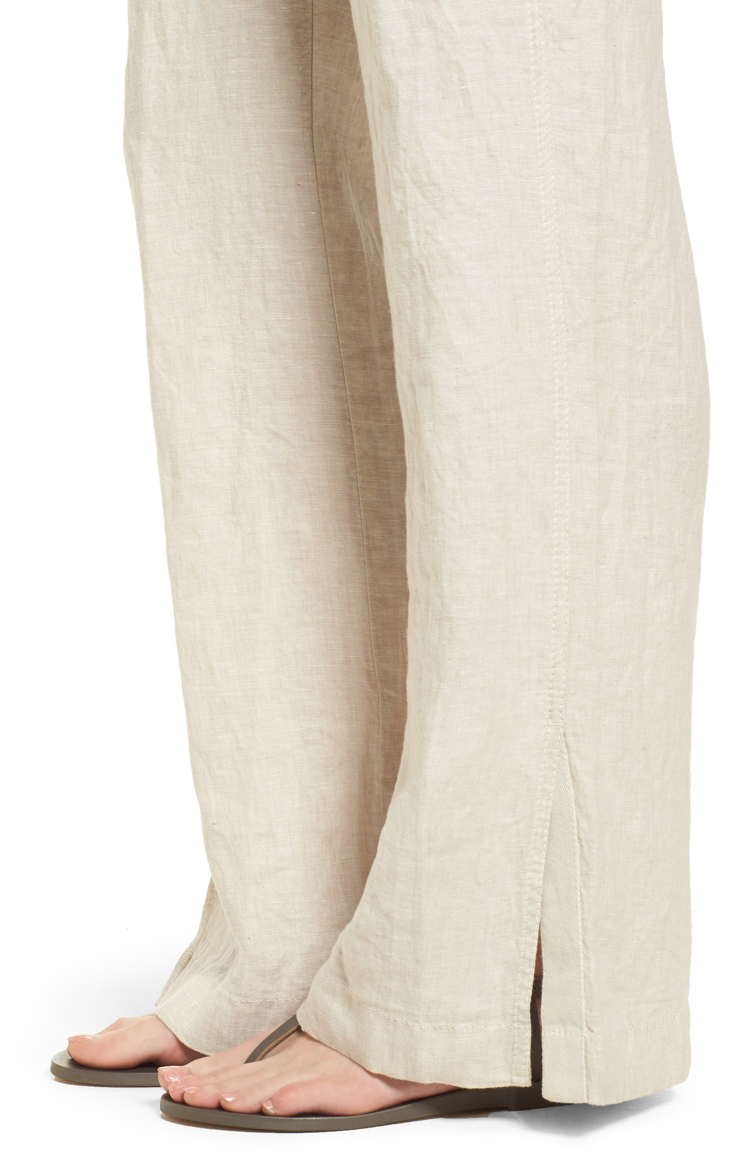 Linen Track Pants,                             Alternate thumbnail 18, color,