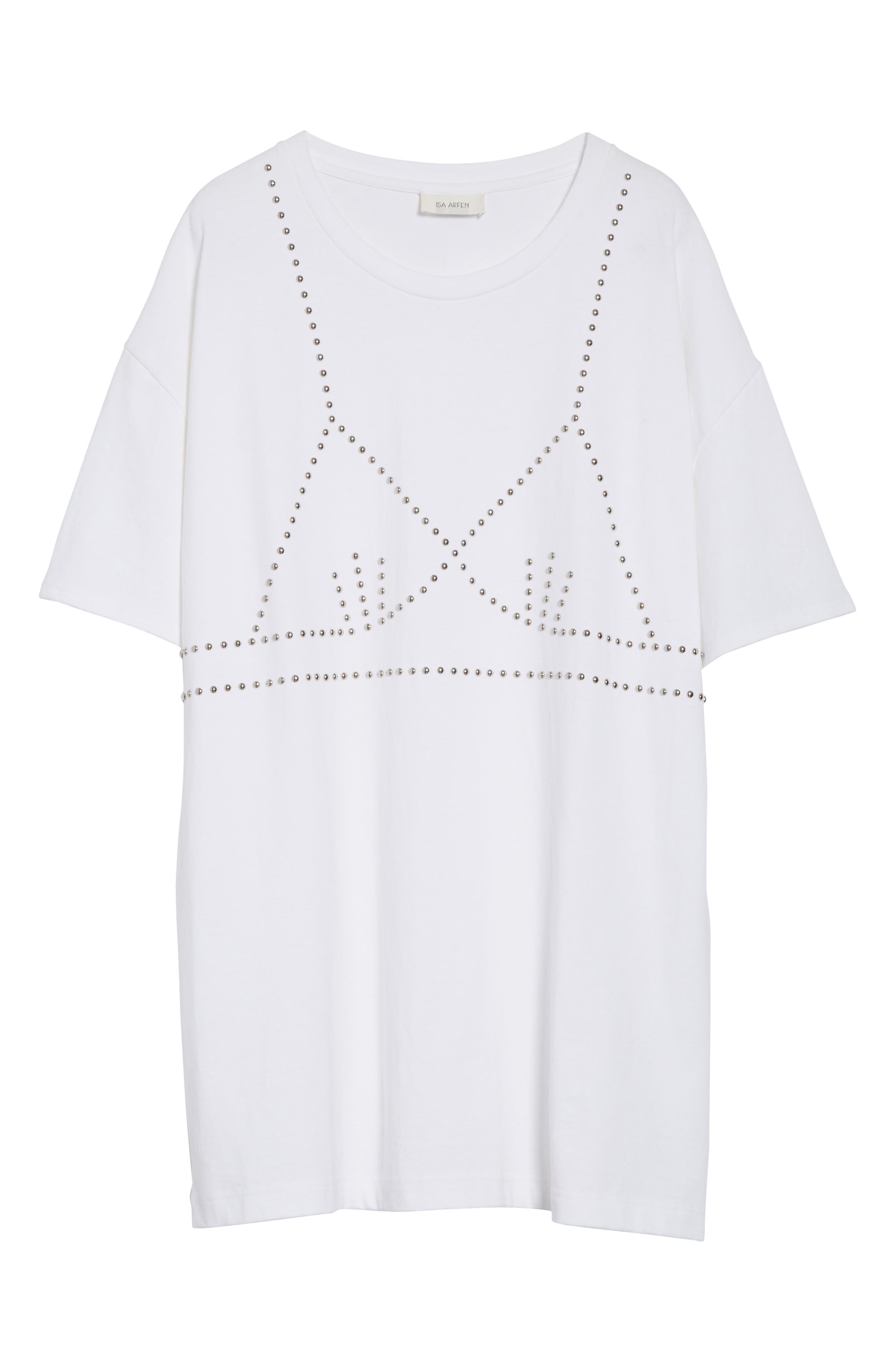 Oversize Studded Tee,                             Alternate thumbnail 6, color,                             100