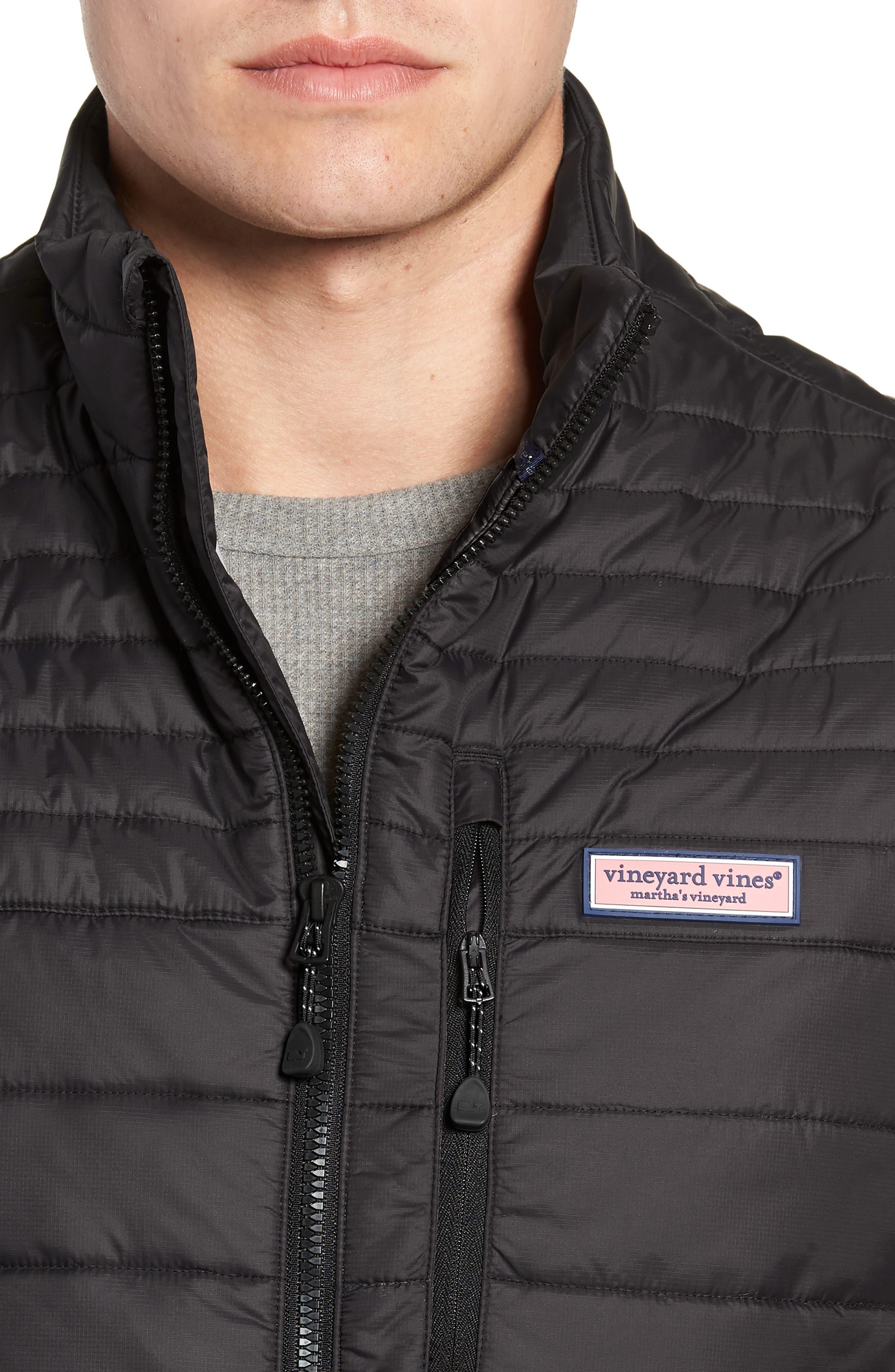 VINEYARD VINES,                             Regular Fit Down Mountain Vest,                             Alternate thumbnail 4, color,                             002