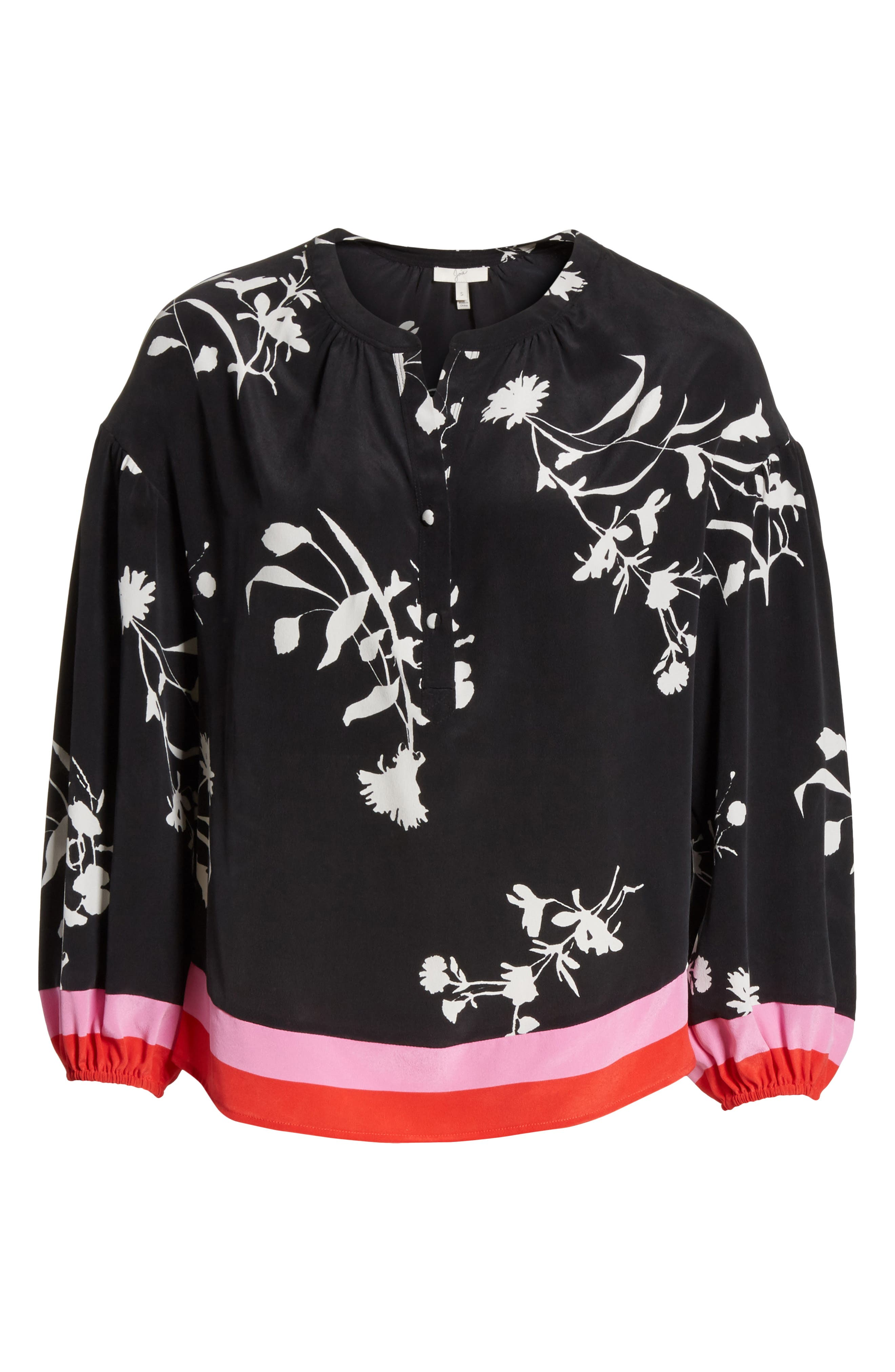 Eilga Floral Silk Blouse,                             Alternate thumbnail 6, color,