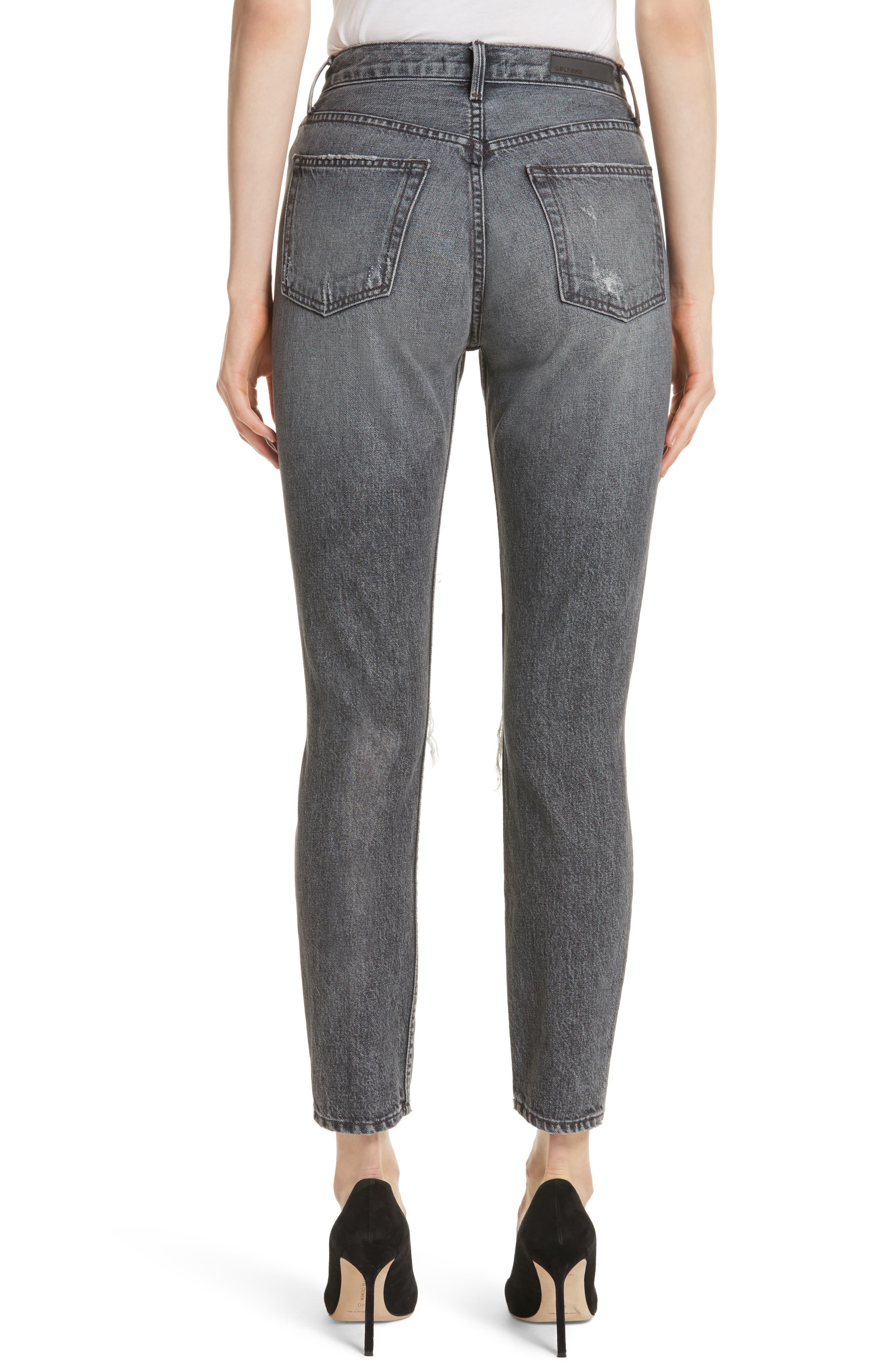 Karolina High Waist Skinny Jeans,                             Alternate thumbnail 2, color,                             FLINT