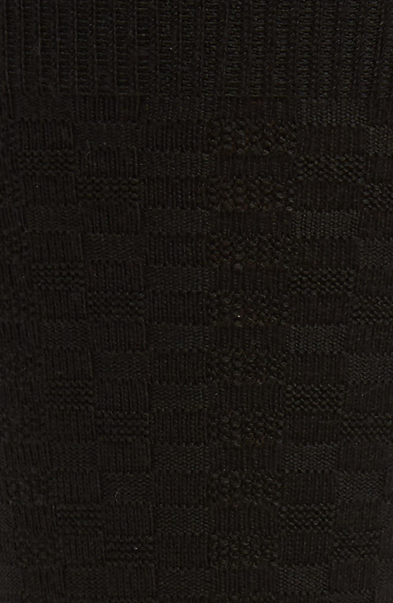Mini Check Ultrasoft Socks,                             Alternate thumbnail 2, color,                             BLACK
