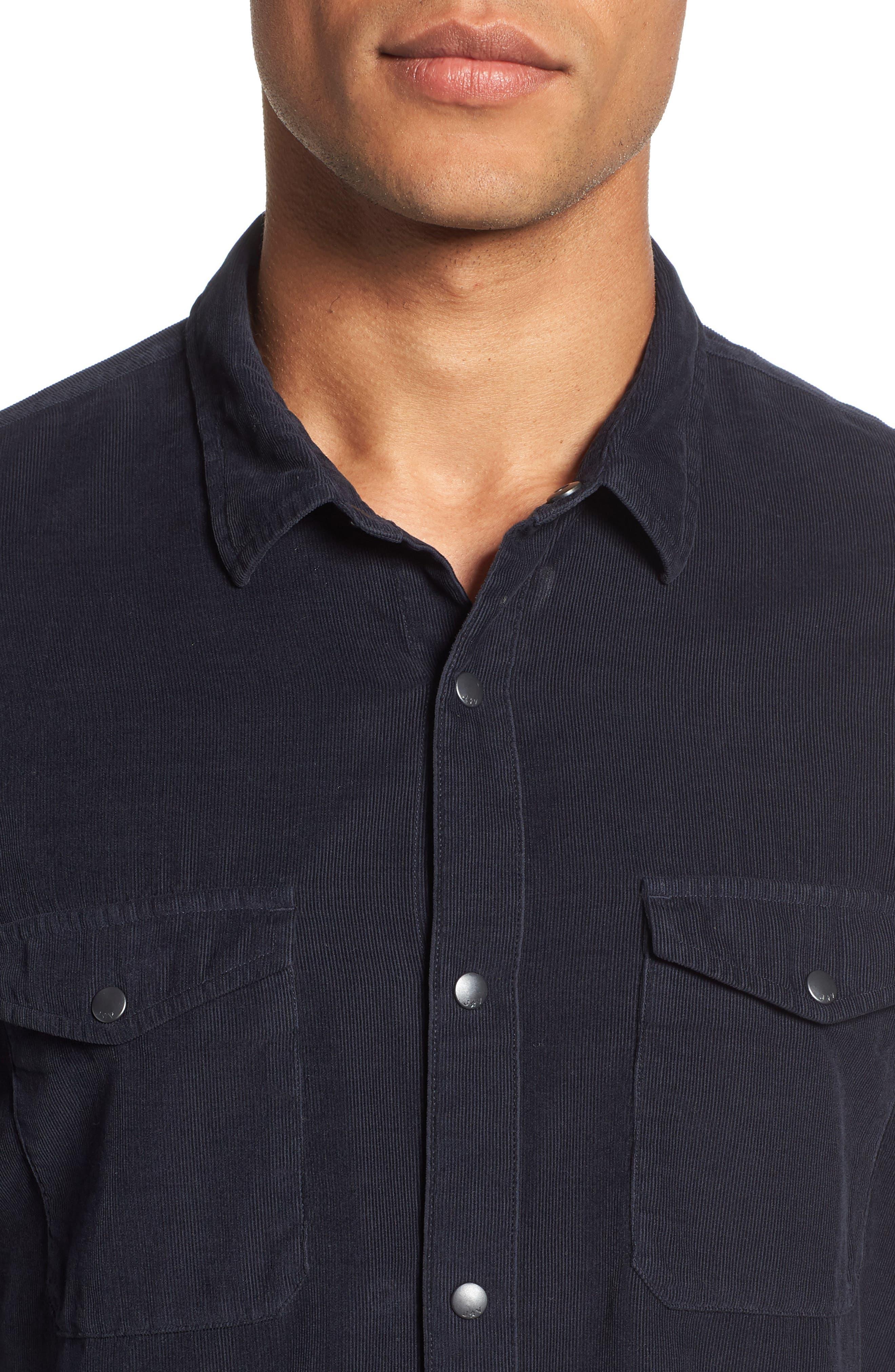 Corduroy Shirt,                             Alternate thumbnail 2, color,                             MIDNIGHT
