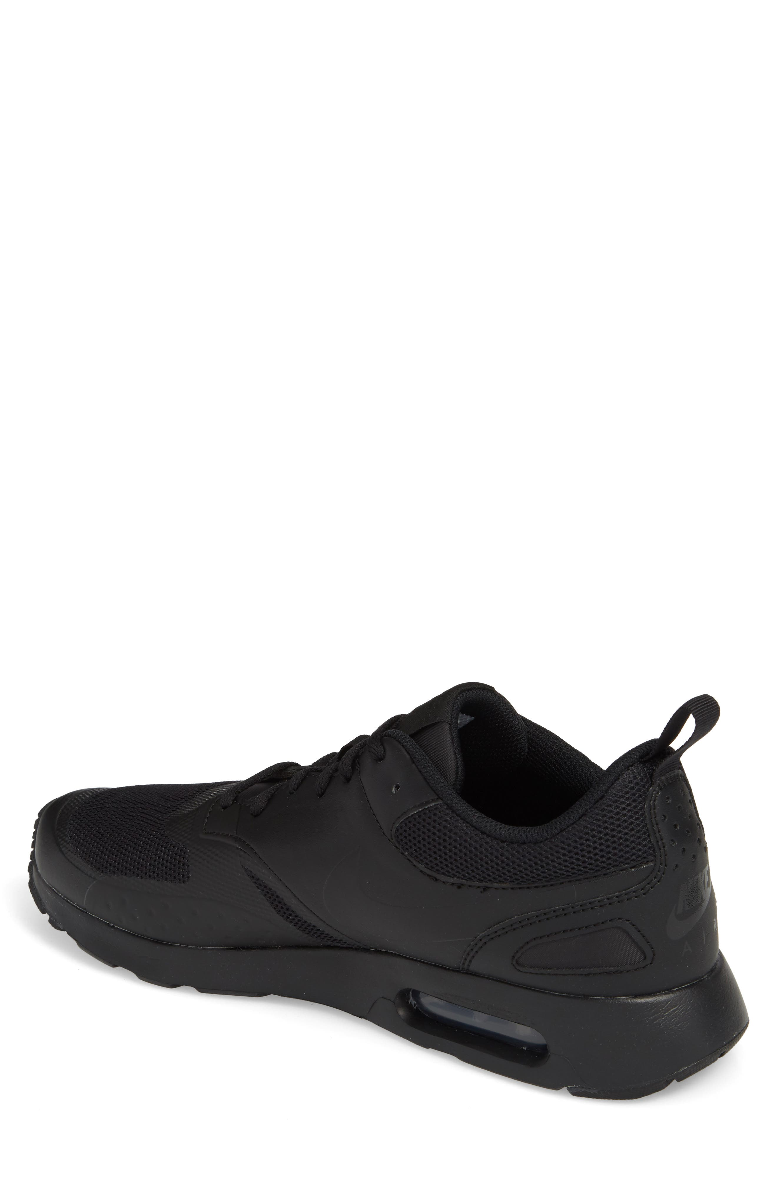 Air Max Vision Sneaker,                             Alternate thumbnail 2, color,                             BLACK/ BLACK